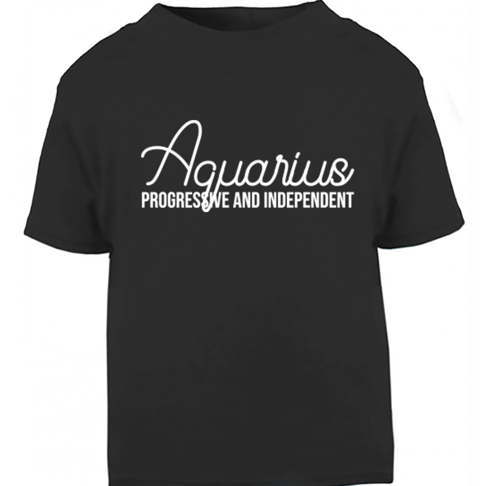 Aquarius, Progressive And Independent Childrens Ages 3/4-12/14 Unisex Fit T-Shirt S0445 - Illustrated Identity Ltd.