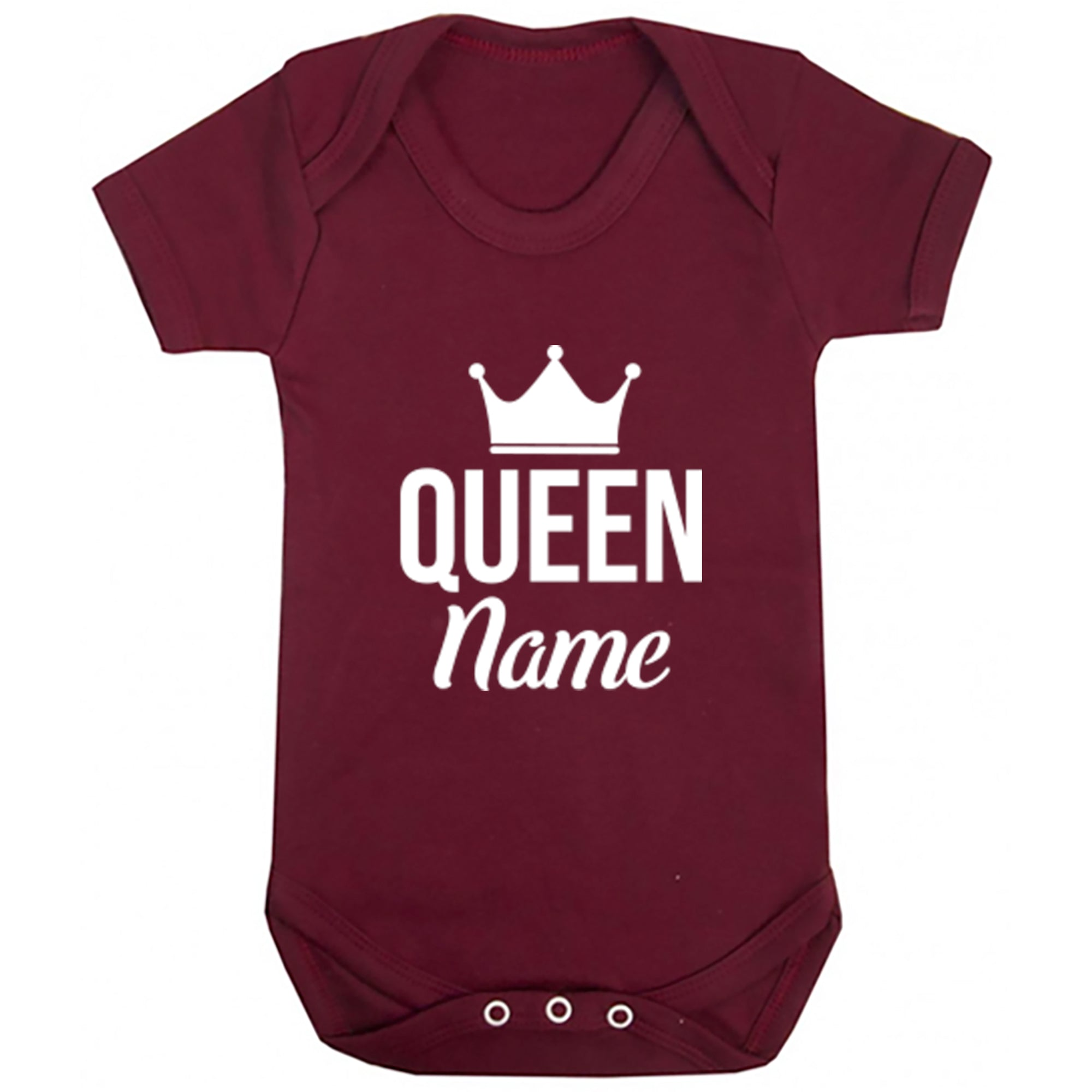 Personalised Queen Design Baby Vest S0465 - Illustrated Identity Ltd.