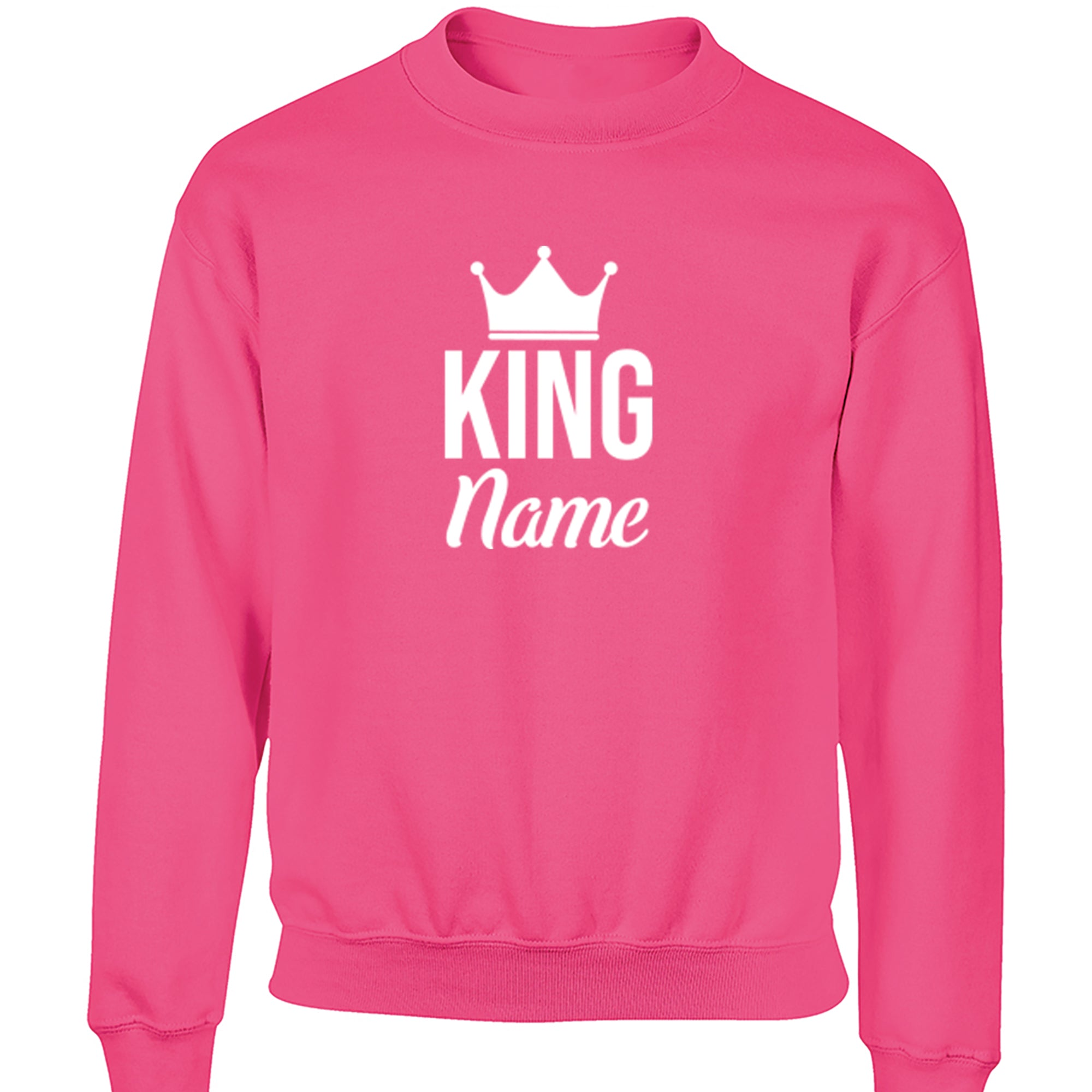 Personalised King Design Childrens Ages 3/4-12/14 Unisex Jumper S0466 - Illustrated Identity Ltd.
