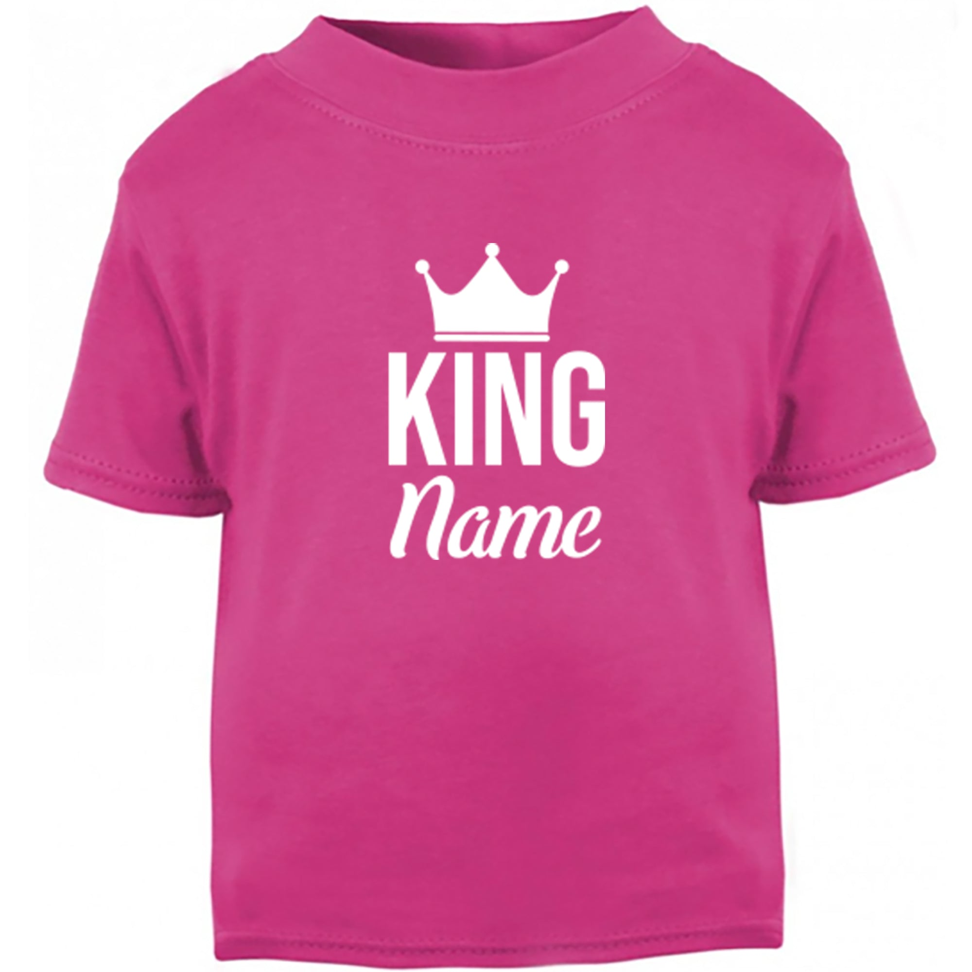 Personalised King Design Childrens Ages 3/4-12/14 Unisex Fit T-Shirt S0466 - Illustrated Identity Ltd.