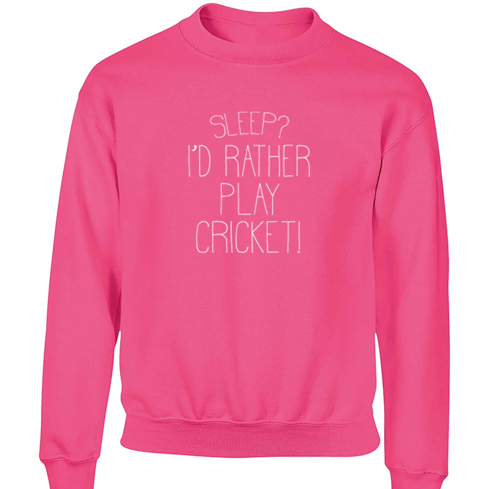 Sleep? I'd Rather Play Cricket! Childrens Ages 3/4-12/14 Unisex Jumper S0473 - Illustrated Identity Ltd.