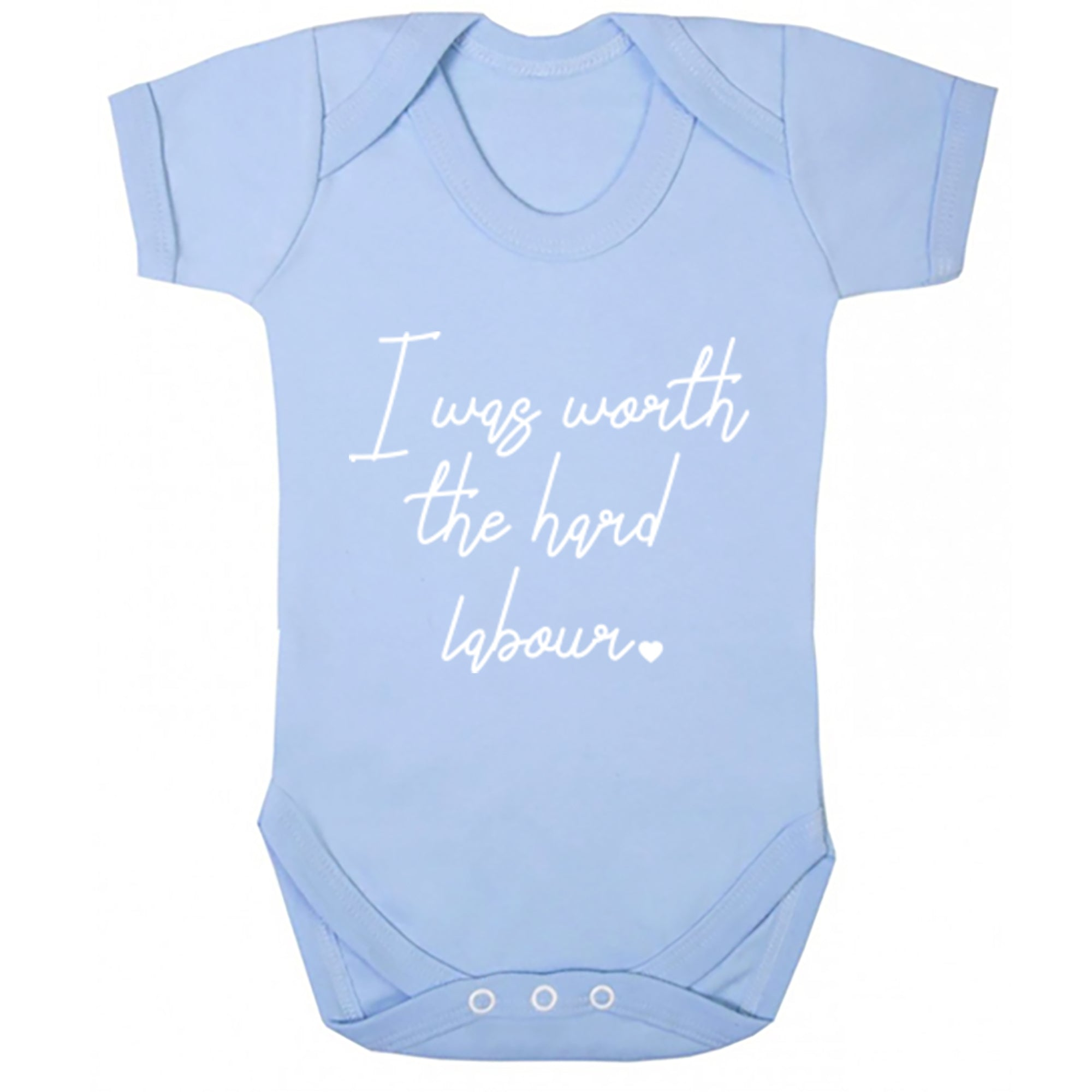I Was Worth The Hard Labour Baby Vest S0481 - Illustrated Identity Ltd.