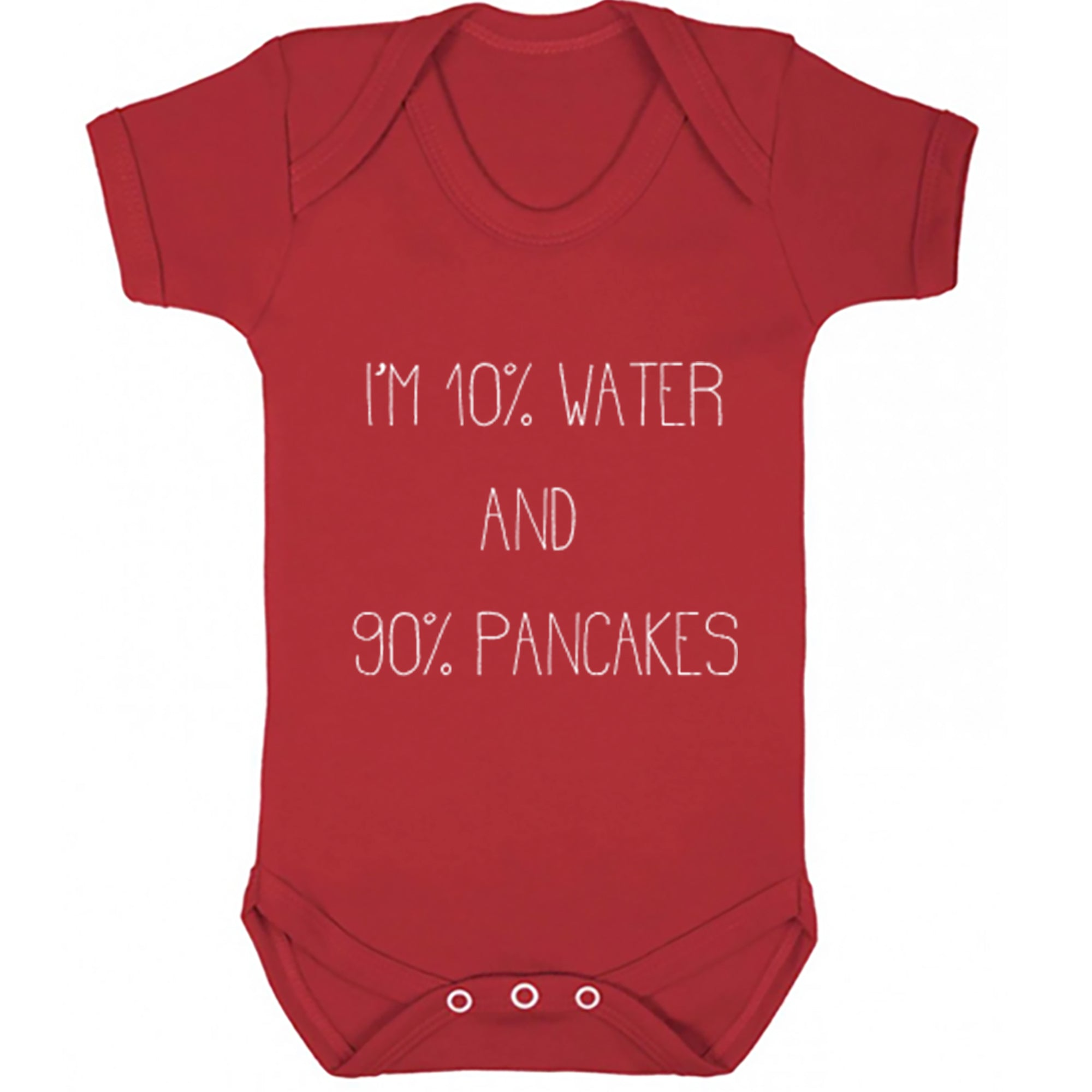 I'm 10% Water And 90% Pancakes Baby Vest S0491 - Illustrated Identity Ltd.