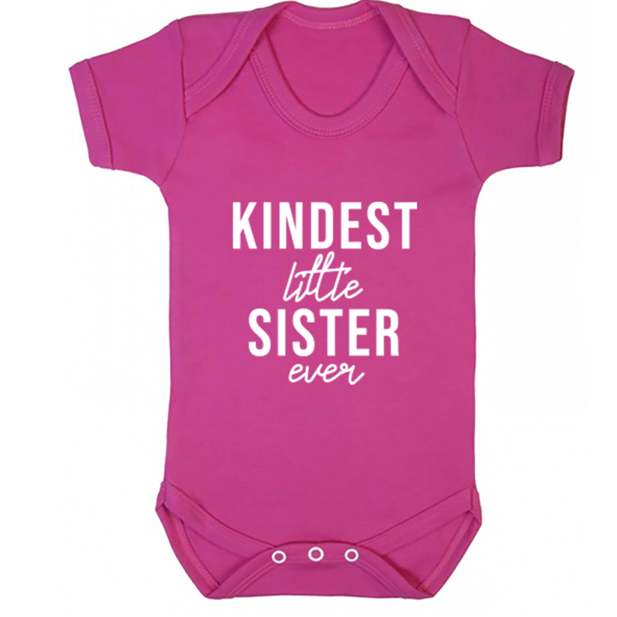 Kindest Little Sister Ever Baby Vest S0507 - Illustrated Identity Ltd.