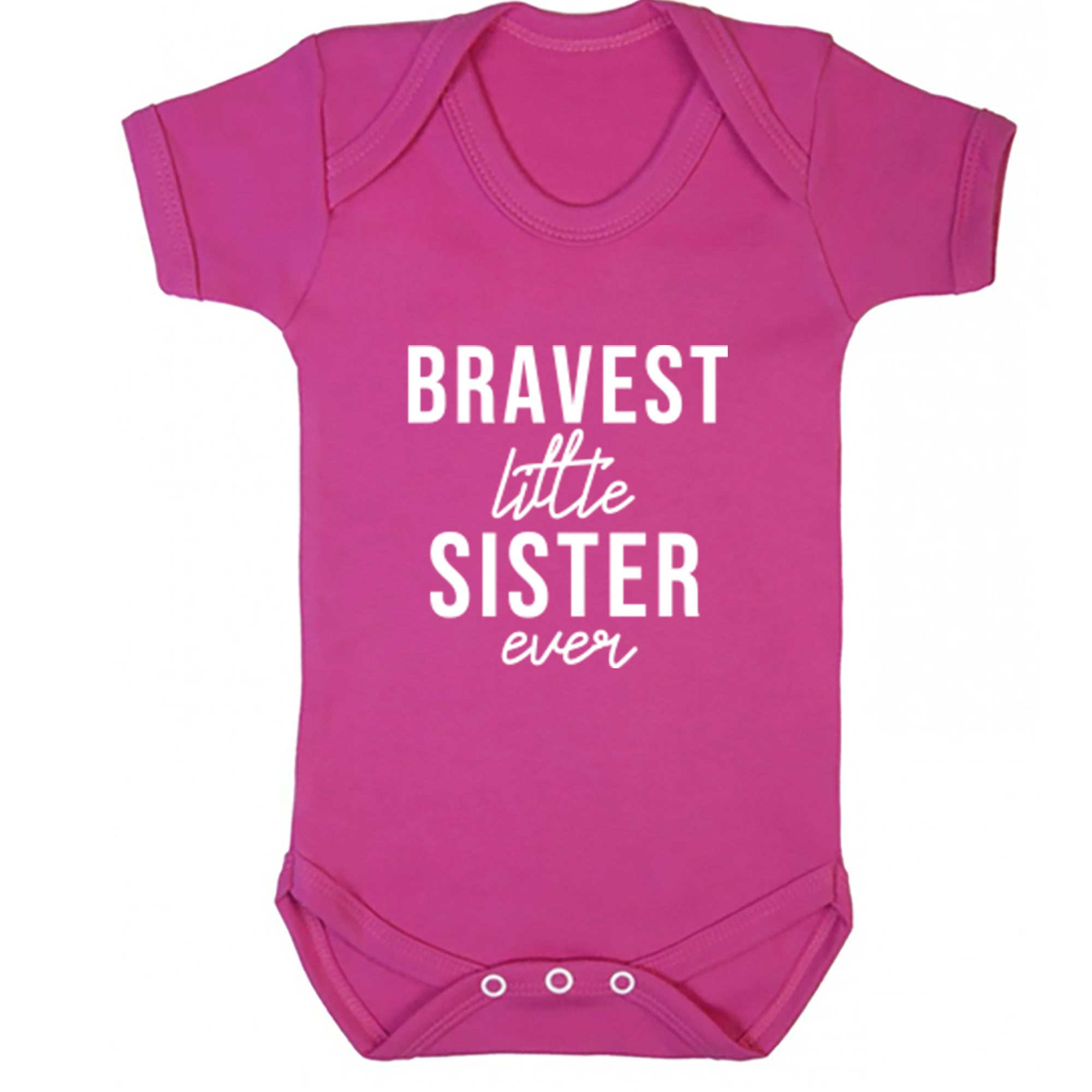Bravest Little Sister Ever Baby Vest S0508 - Illustrated Identity Ltd.