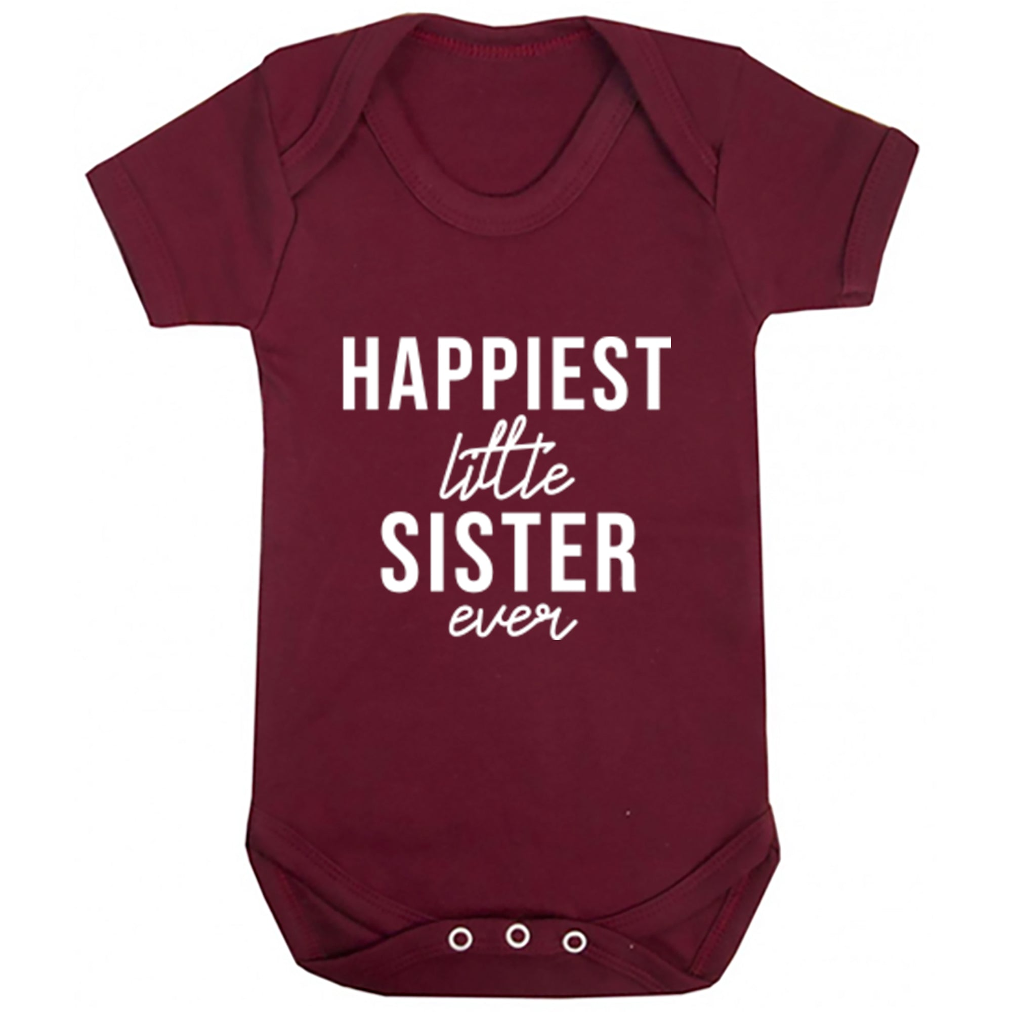 Happiest Little Sister Ever Baby Vest S0509 - Illustrated Identity Ltd.