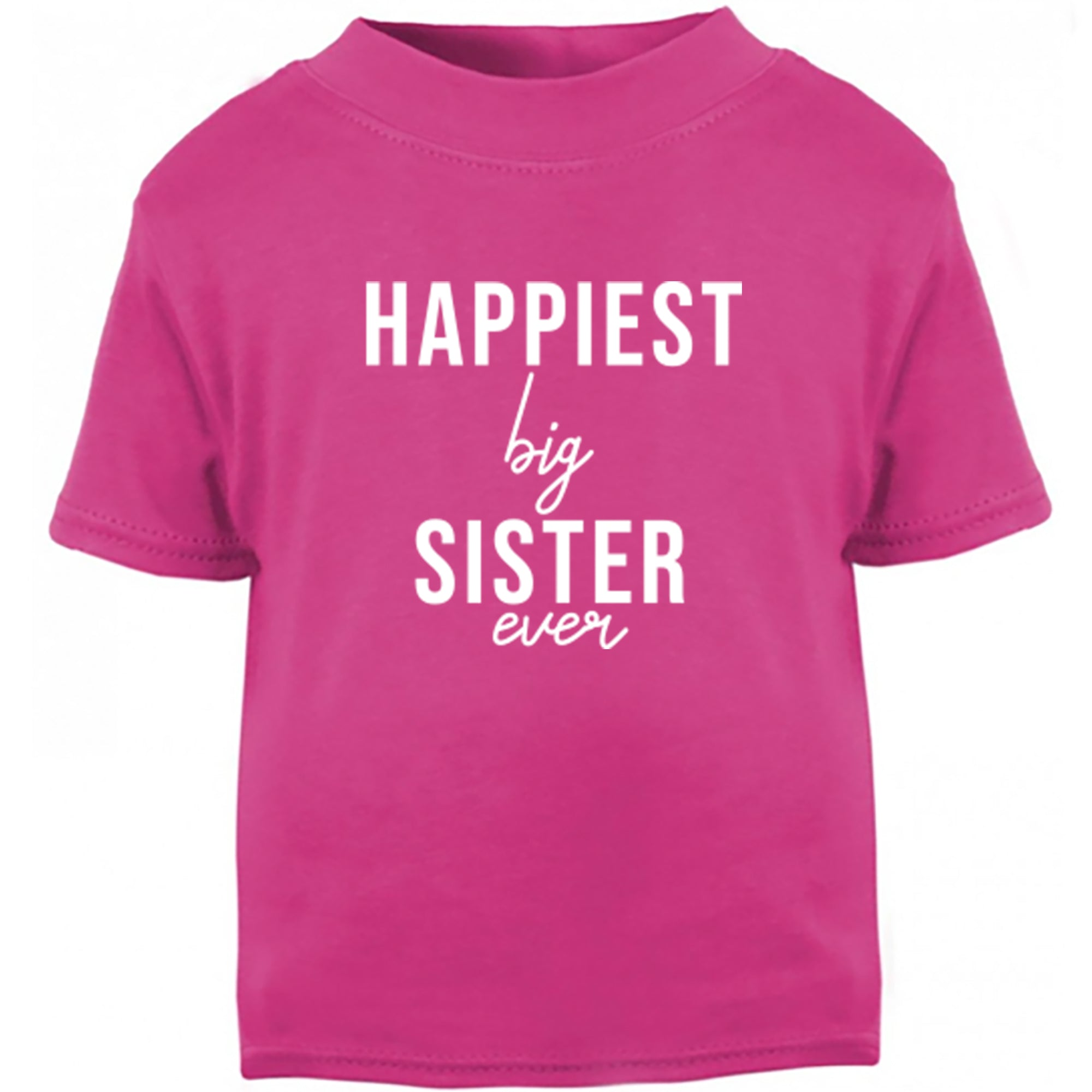 Happiest Big Sister Ever Childrens Ages 3/4-12/14 Unisex Fit T-Shirt S0515 - Illustrated Identity Ltd.