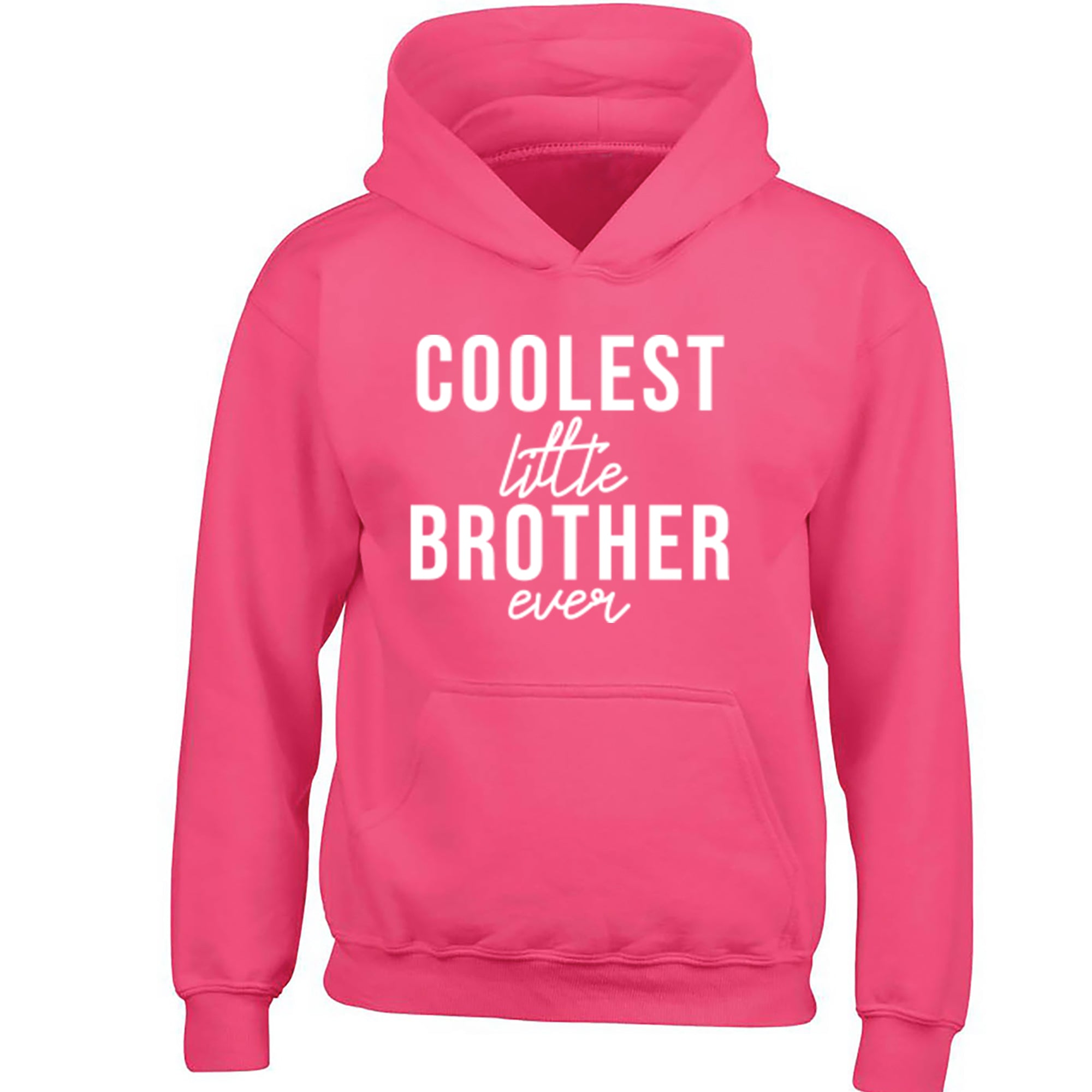 Coolest Little Brother Ever Childrens Ages 3/4-12/14 Unisex Hoodie S0517 - Illustrated Identity Ltd.