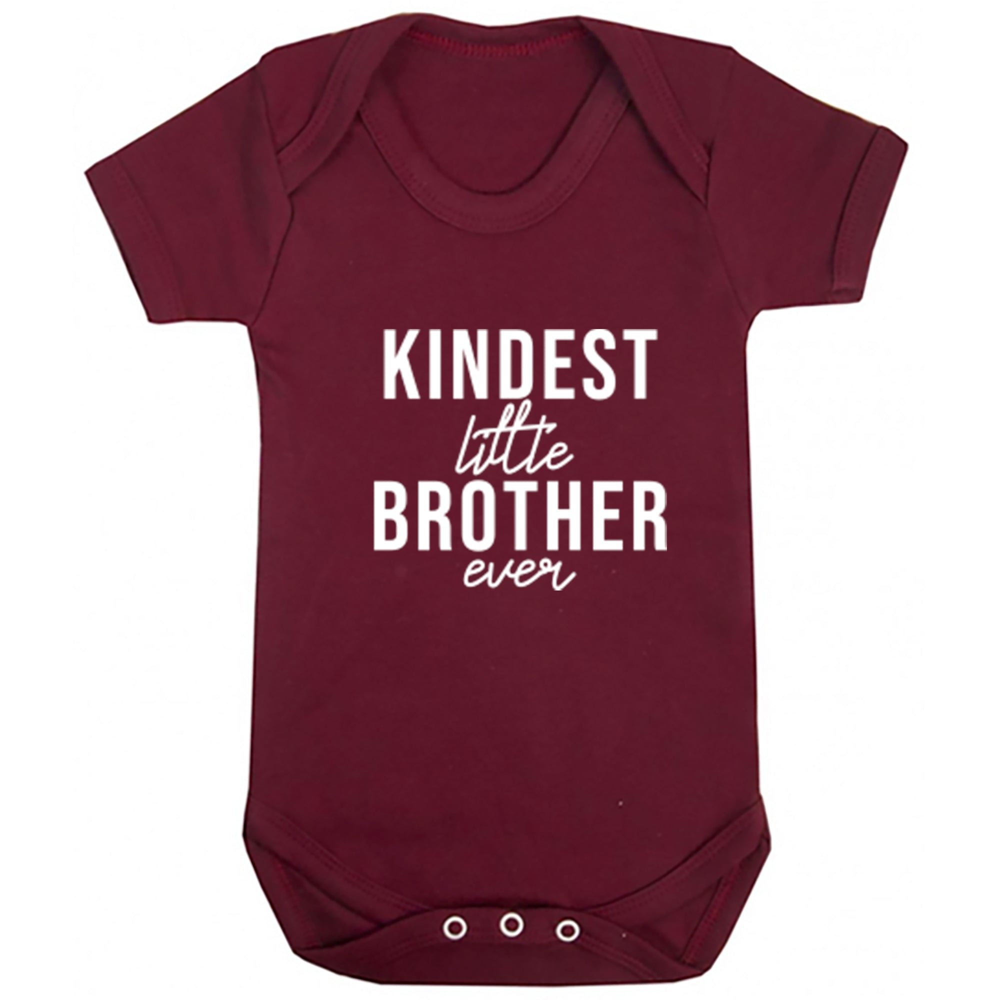 Kindest Little Brother Ever Baby Vest S0519 - Illustrated Identity Ltd.