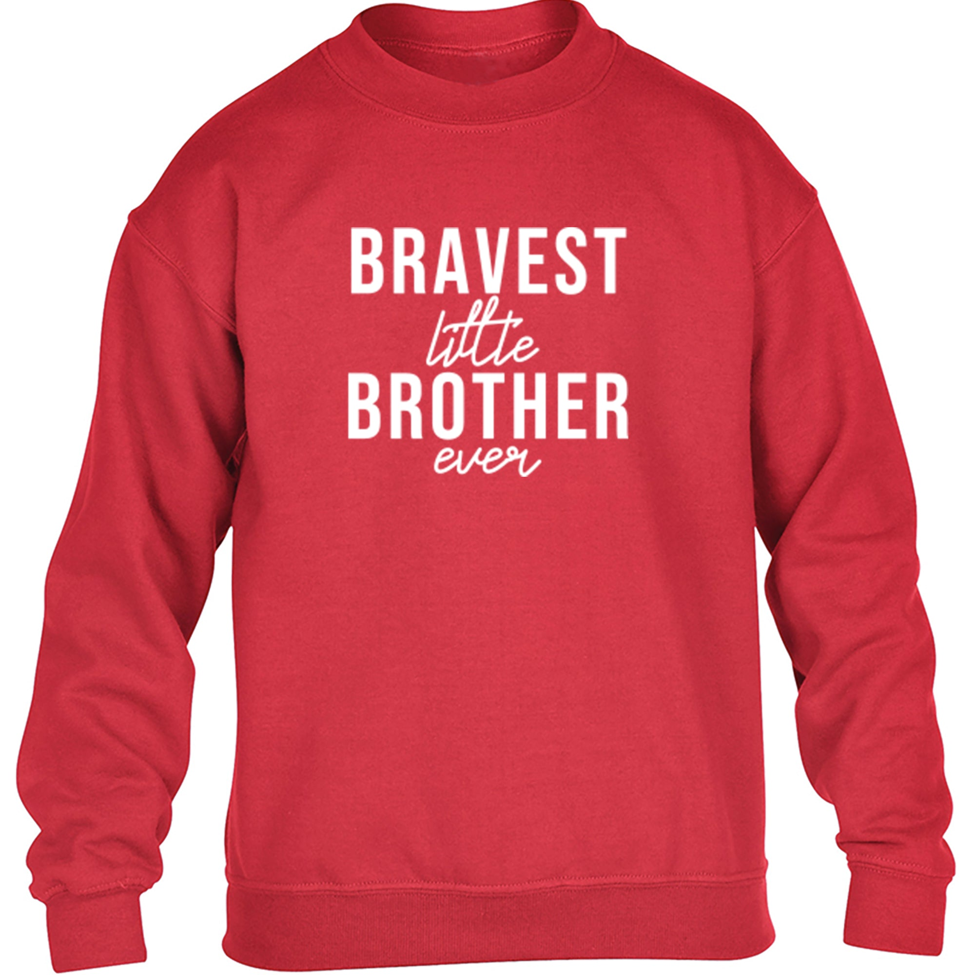 Bravest Little Brother Ever Childrens Ages 3/4-12/14 Unisex Jumper S0520 - Illustrated Identity Ltd.