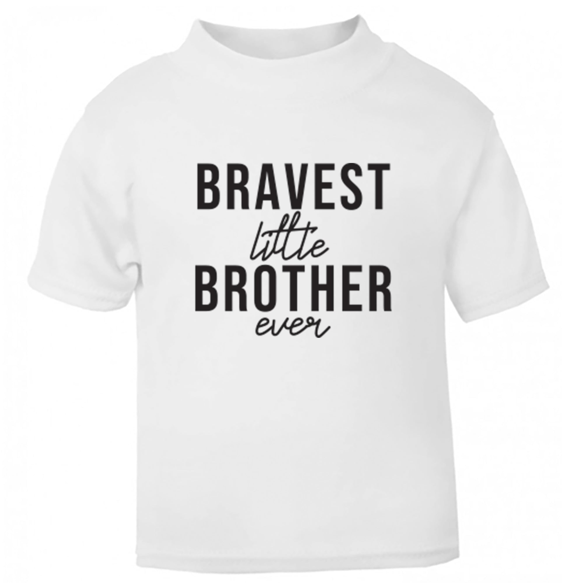 Bravest Little Brother Ever Childrens Ages 3/4-12/14 Unisex Fit T-Shirt S0520 - Illustrated Identity Ltd.