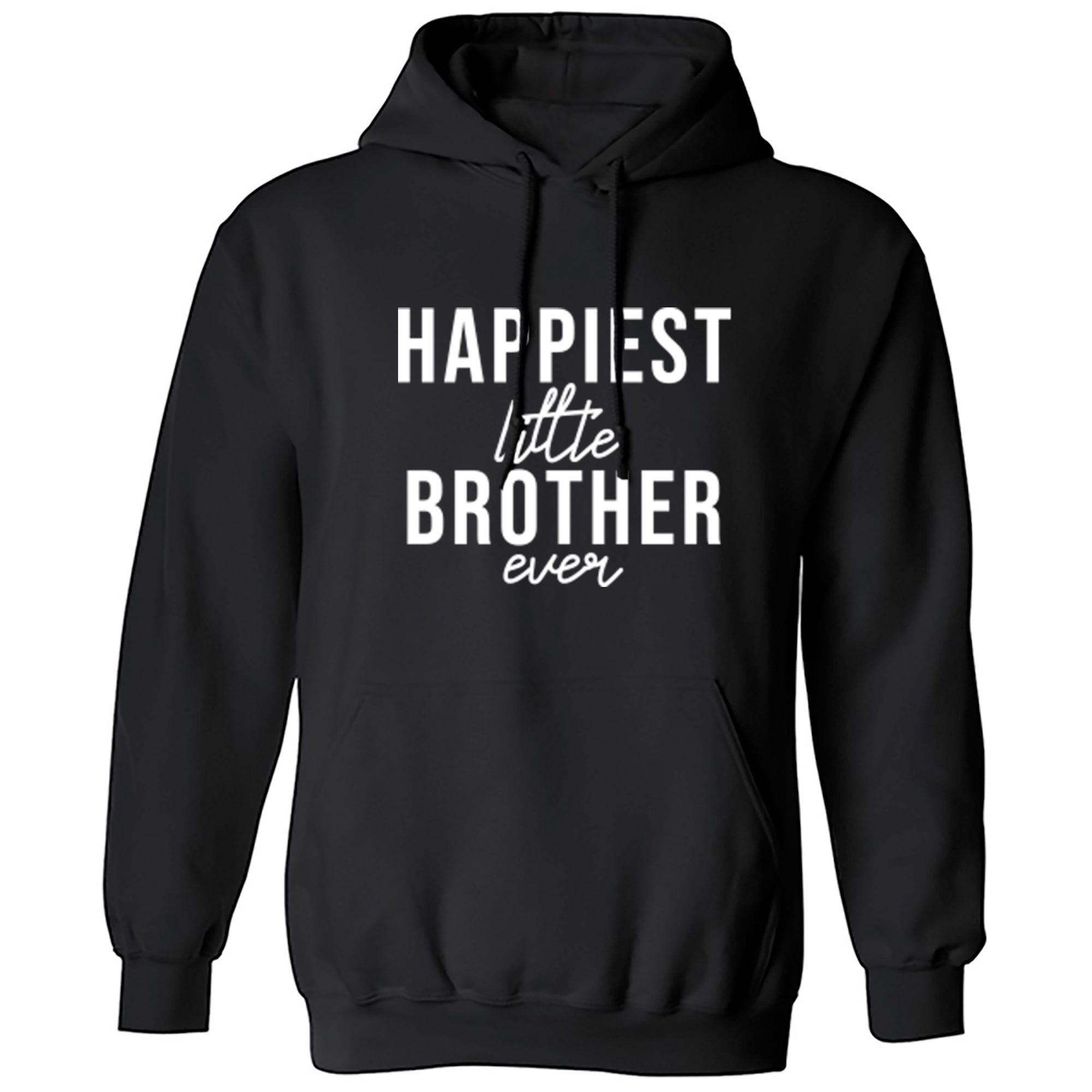 Happiest Little Brother Ever Unisex Hoodie S0521 - Illustrated Identity Ltd.