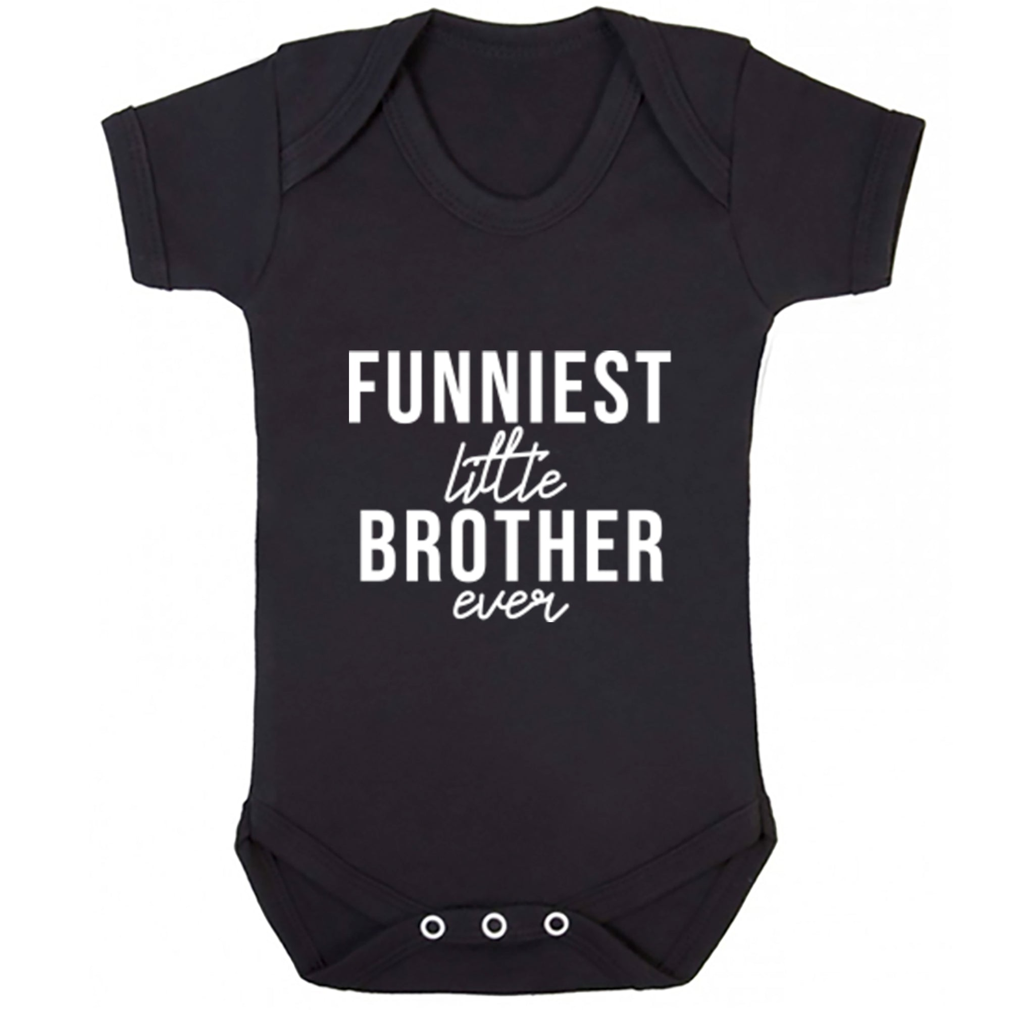 Funniest Little Brother Ever Baby Vest S0522 - Illustrated Identity Ltd.