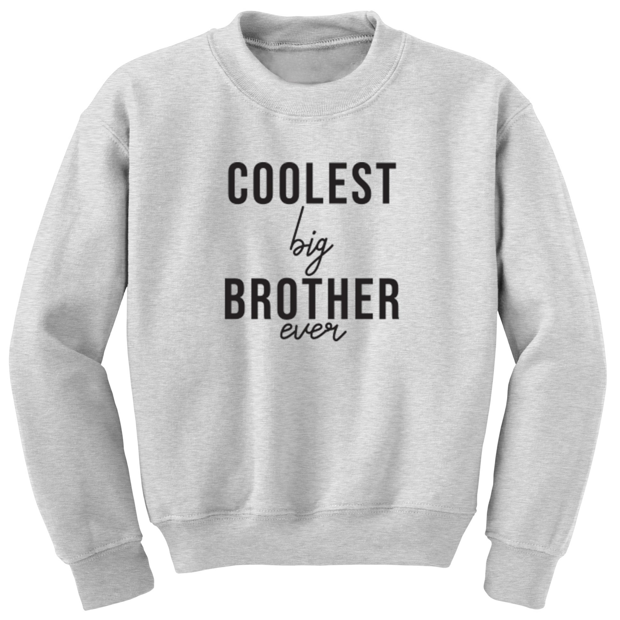Coolest Big Brother Ever Childrens Ages 3/4-12/14 Unisex Jumper S0523 - Illustrated Identity Ltd.
