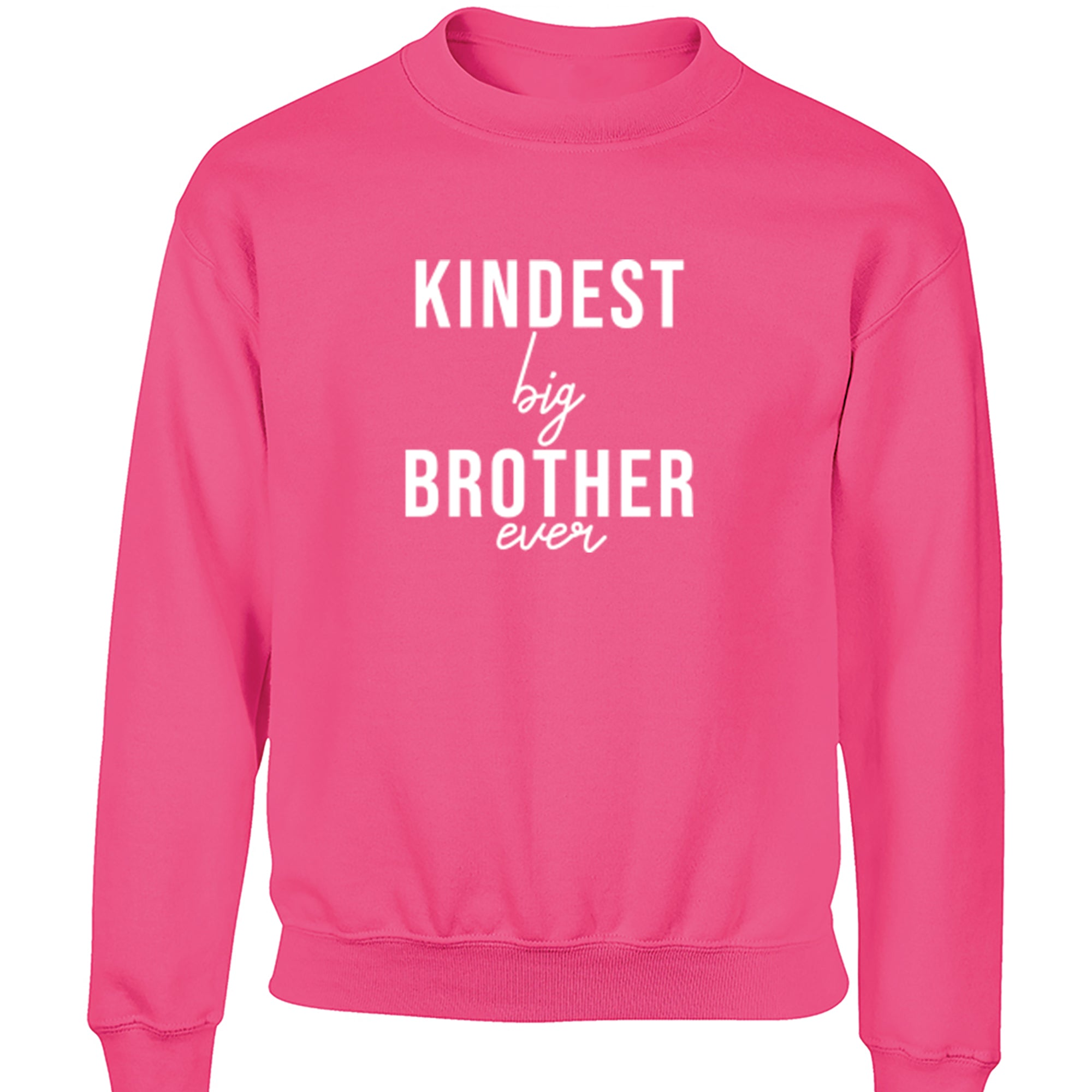 Kindest Big Brother Ever Childrens Ages 3/4-12/14 Unisex Jumper S0525 - Illustrated Identity Ltd.