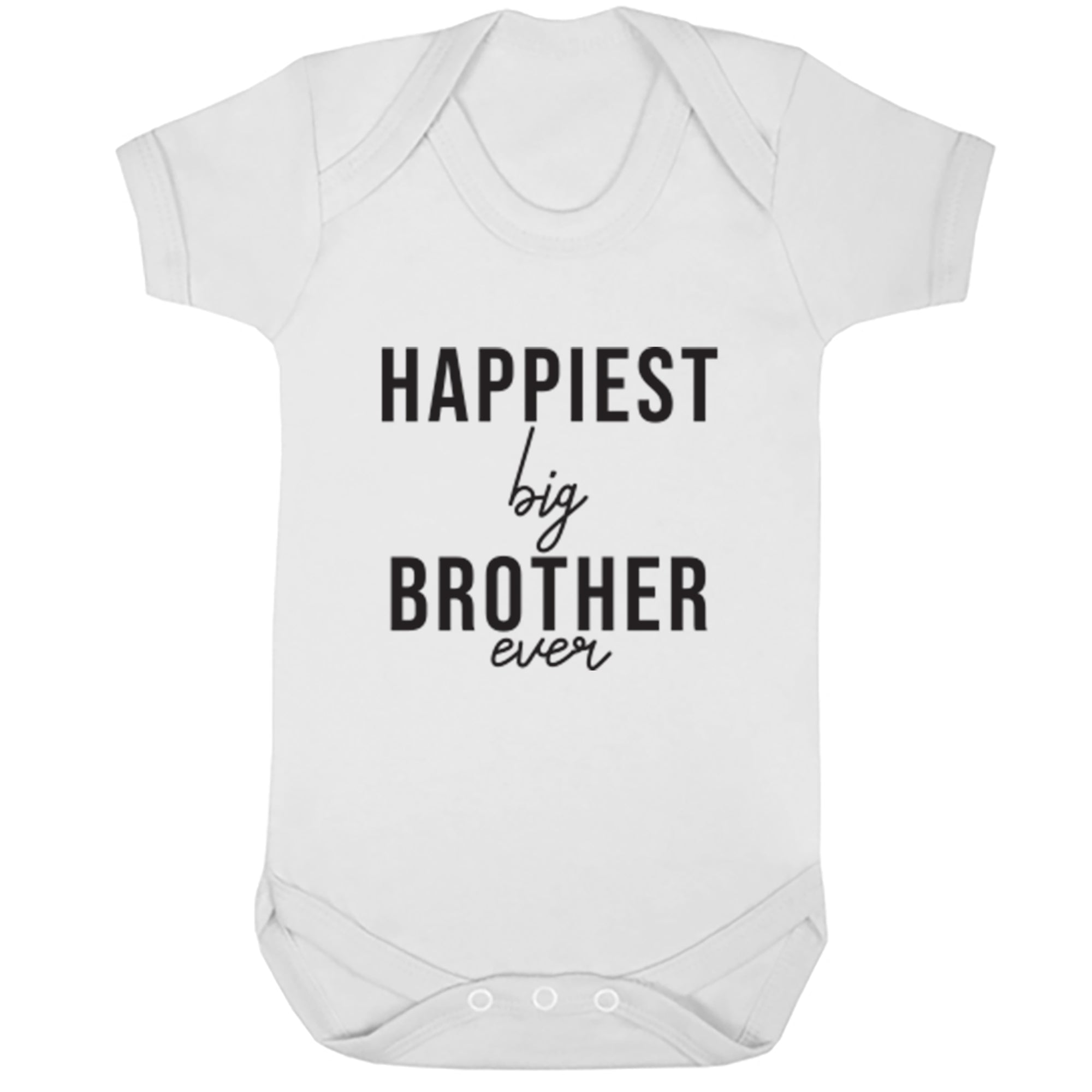 Happiest Big Brother Ever Baby Vest S0527 - Illustrated Identity Ltd.