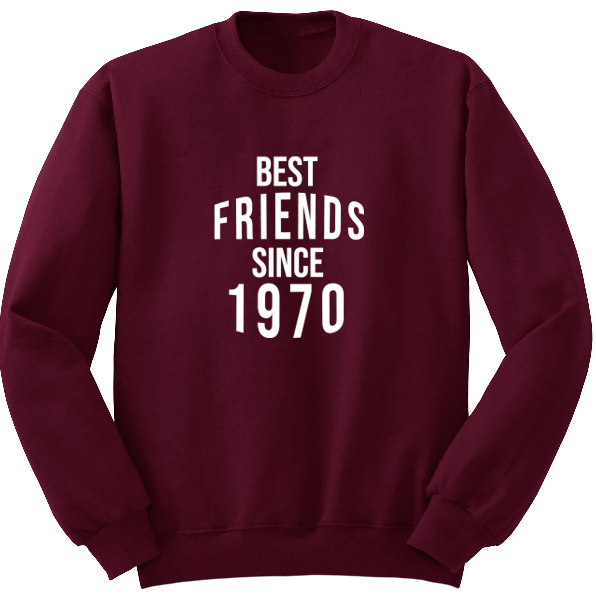 Best Friends Since 1970 Unisex Jumper S0549 - Illustrated Identity Ltd.