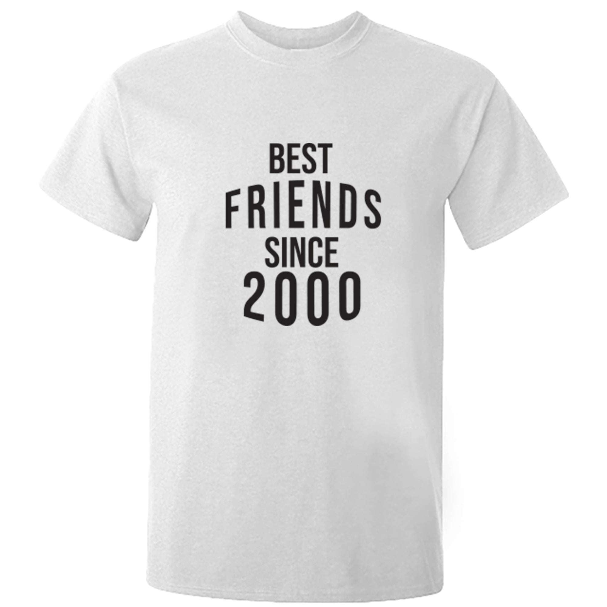 Best Friends Since 2000 Unisex Fit T-Shirt S0579 - Illustrated Identity Ltd.