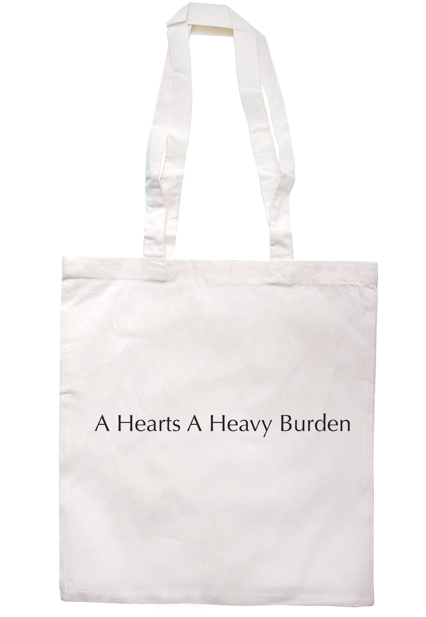 A Hearts A Heavy Burden Tote Bag S0637 - Illustrated Identity Ltd.