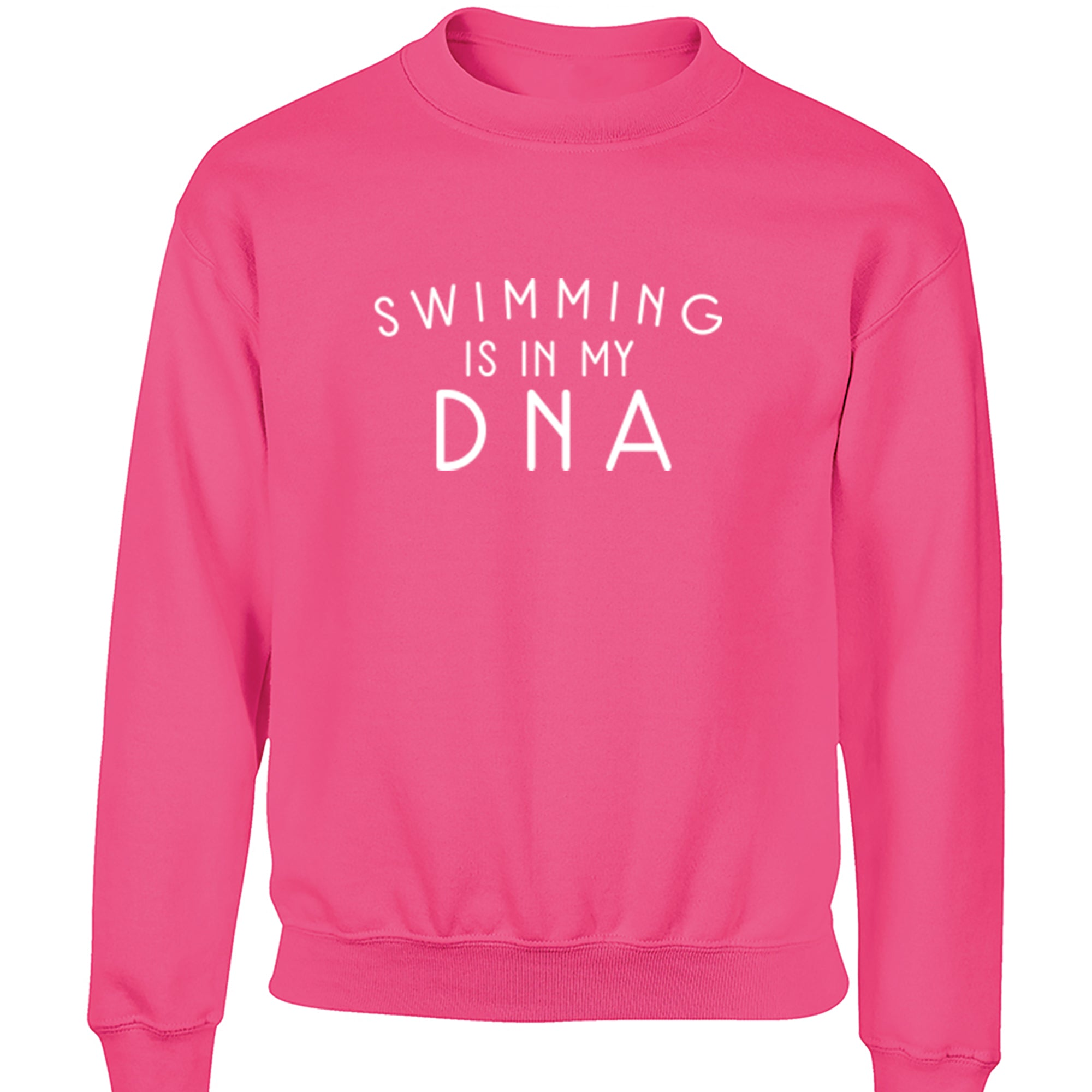 Swimming Is In My DNA Childrens Ages 3/4-12/14 Unisex Jumper S0682 - Illustrated Identity Ltd.
