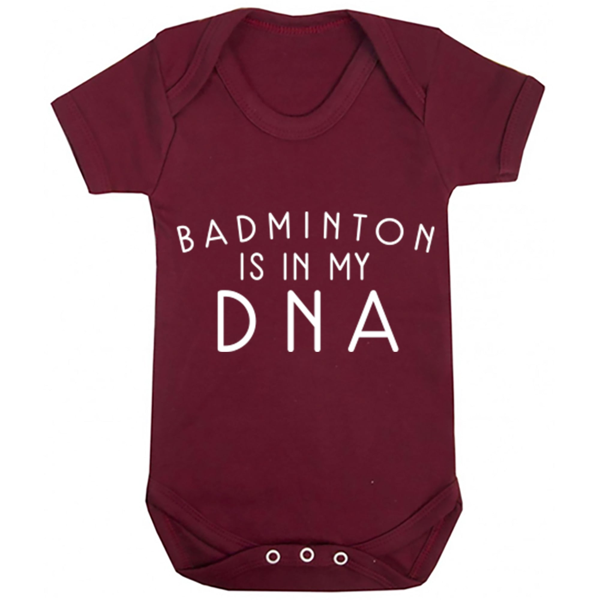 Badminton Is In My DNA Baby Vest S0691 - Illustrated Identity Ltd.
