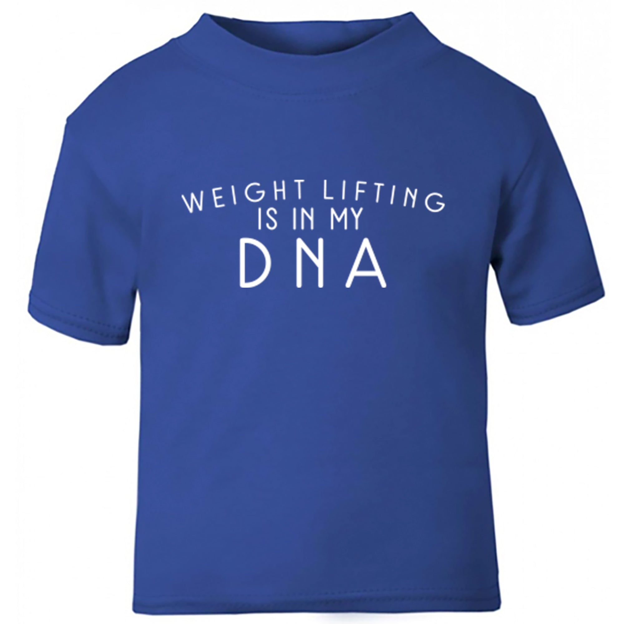 Weight Lifting Is In My DNA Childrens Ages 3/4-12/14 Unisex Fit T-Shirt S0696 - Illustrated Identity Ltd.