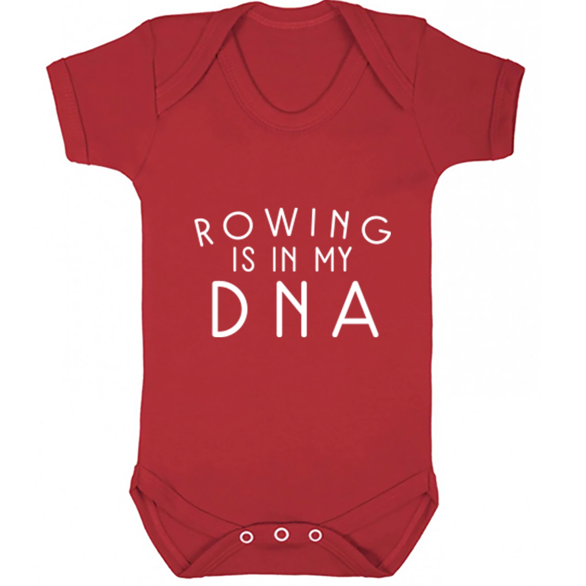 Rowing Is In My DNA Baby Vest S0697 - Illustrated Identity Ltd.