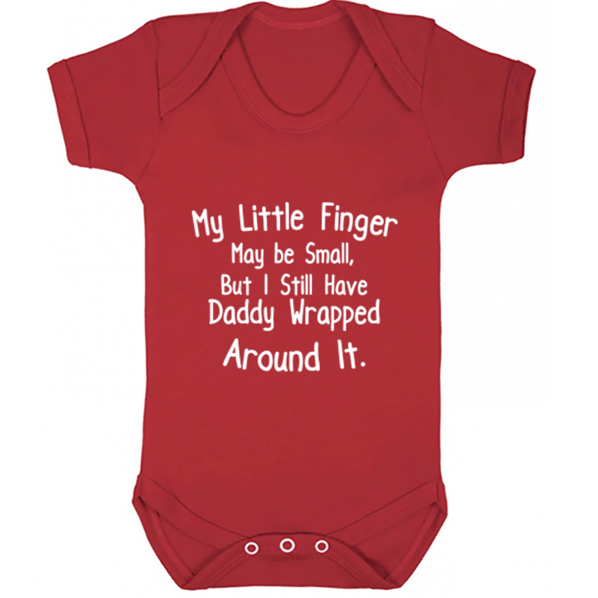 My Little Finger Maybe Small, But I Still Have Daddy Wrapped Around It Baby Vest S0725 - Illustrated Identity Ltd.
