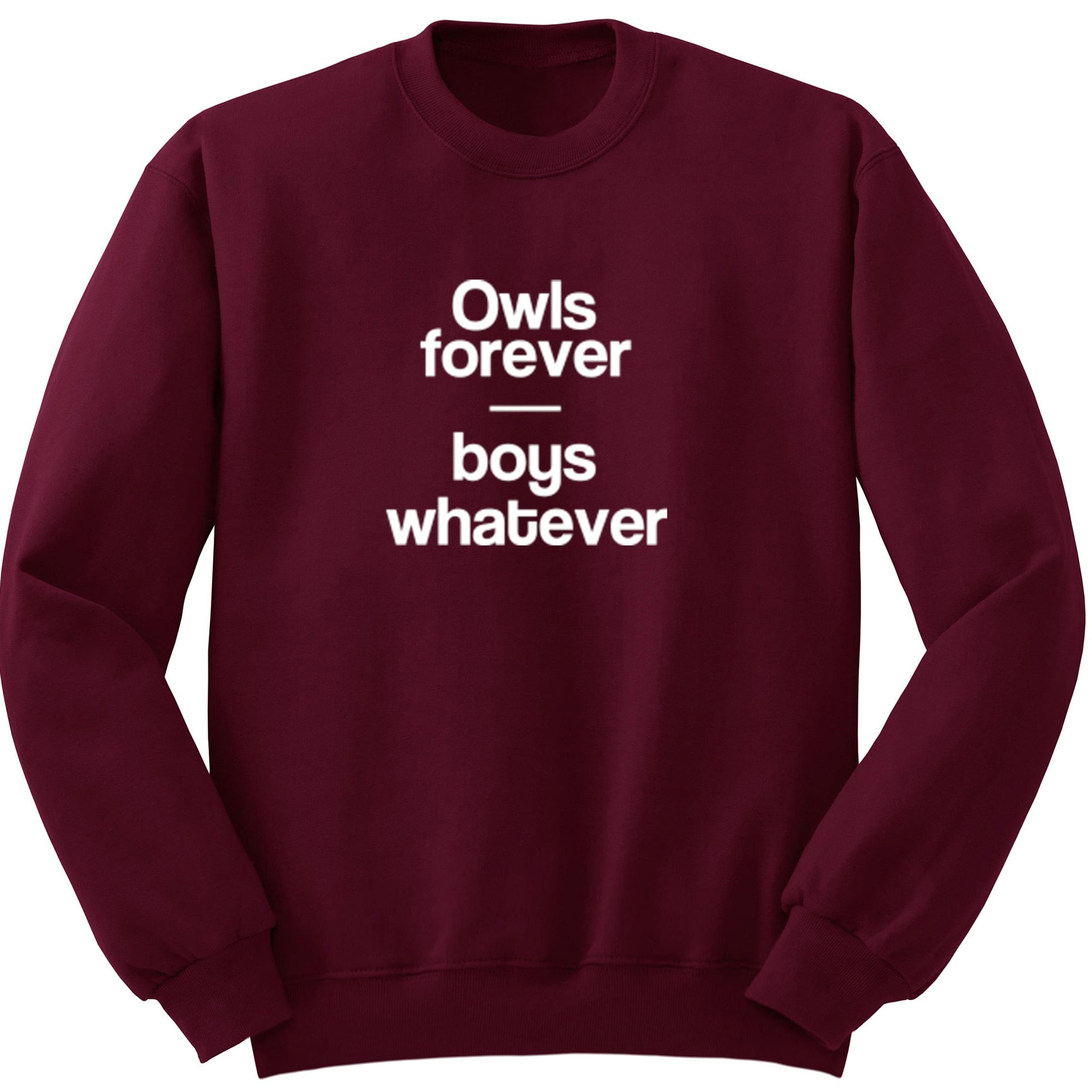 Owls Forever Boys Whatever Unisex Jumper S0766
