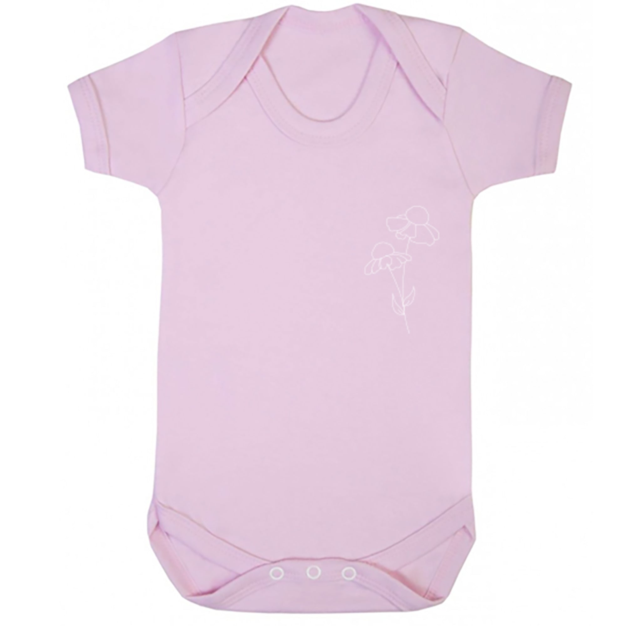 Helenium Stem Pocket Baby Vest S0769 - Illustrated Identity Ltd.