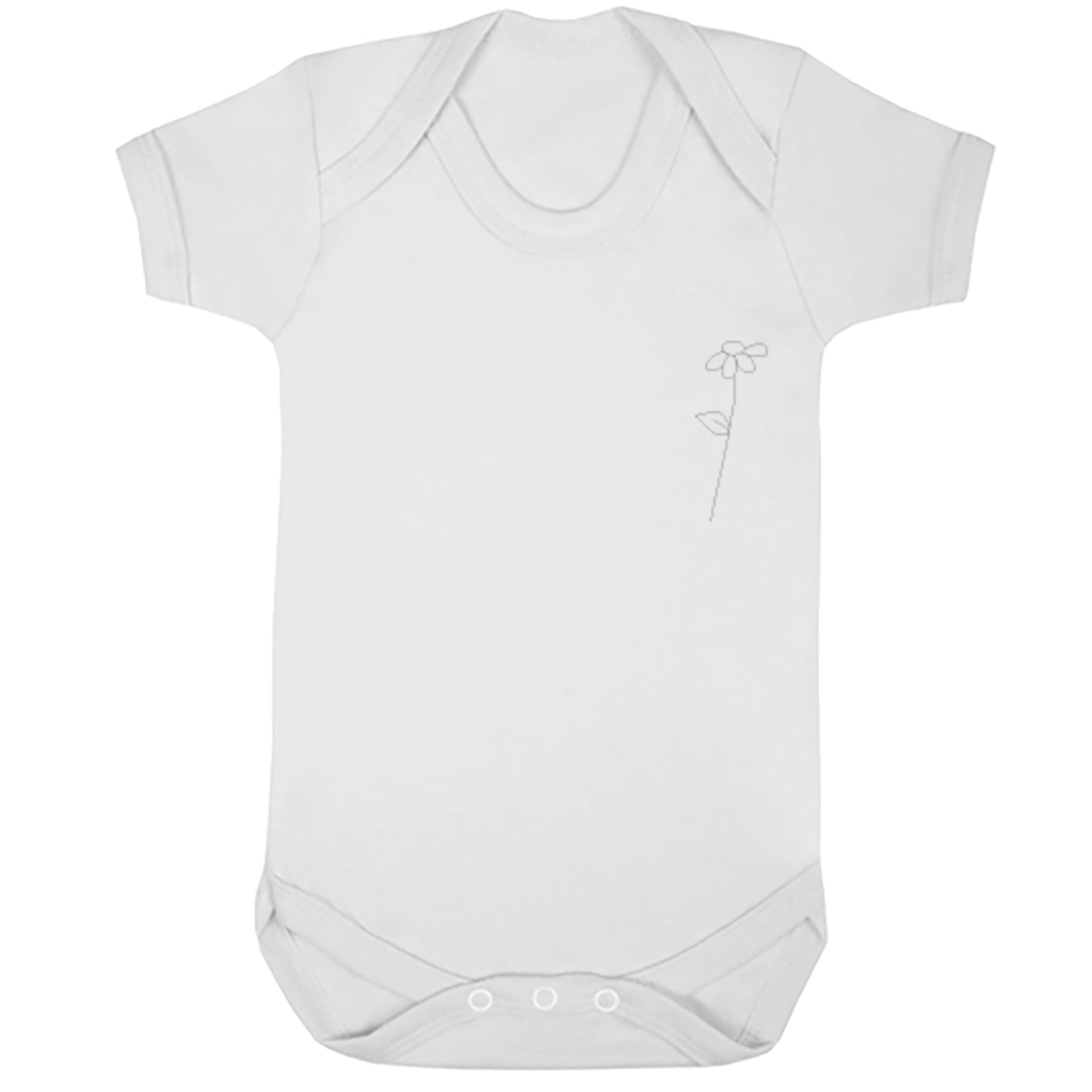 Daisy Stem Pocket Baby Vest S0771 - Illustrated Identity Ltd.