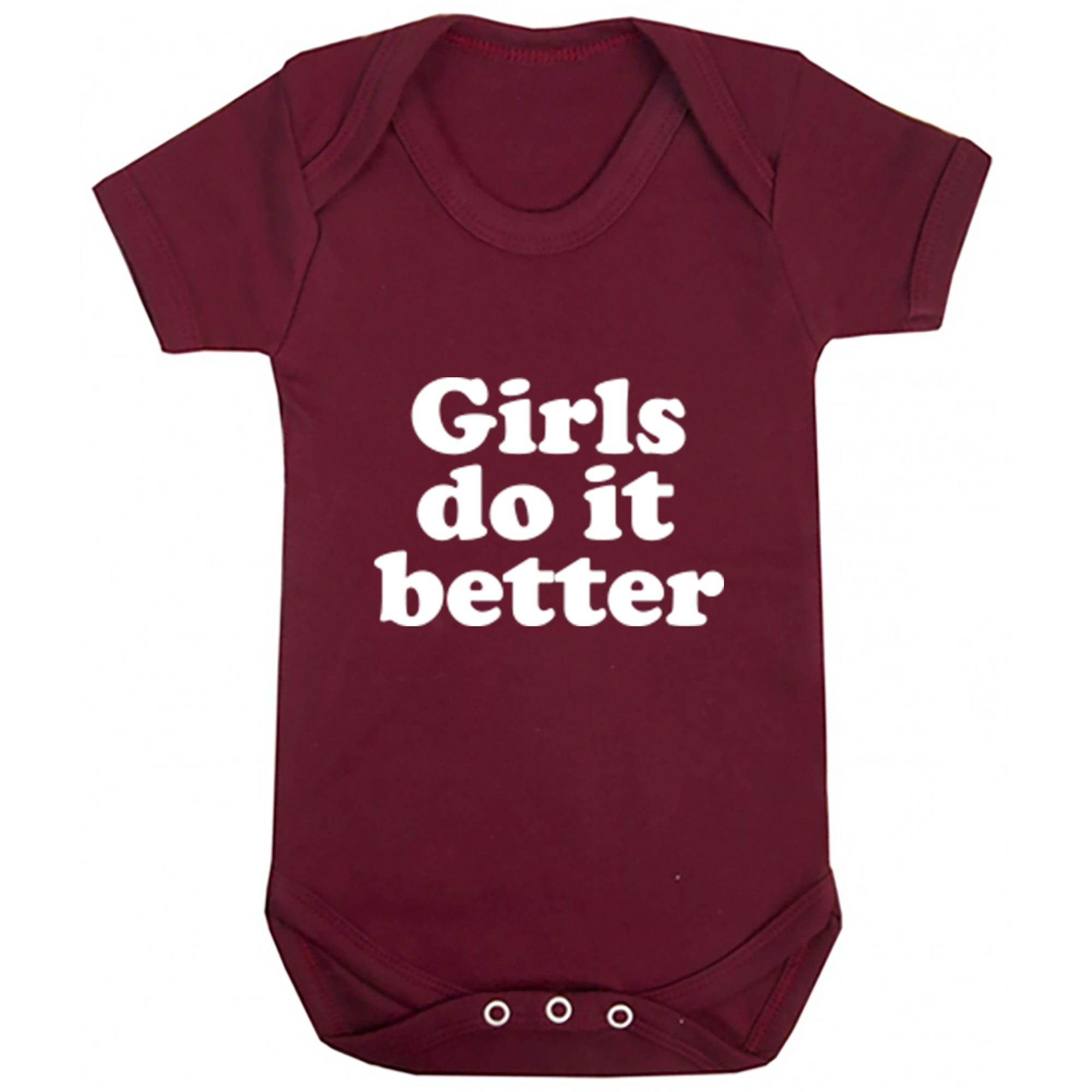 Girls Do It Better Baby Vest S0789 - Illustrated Identity Ltd.