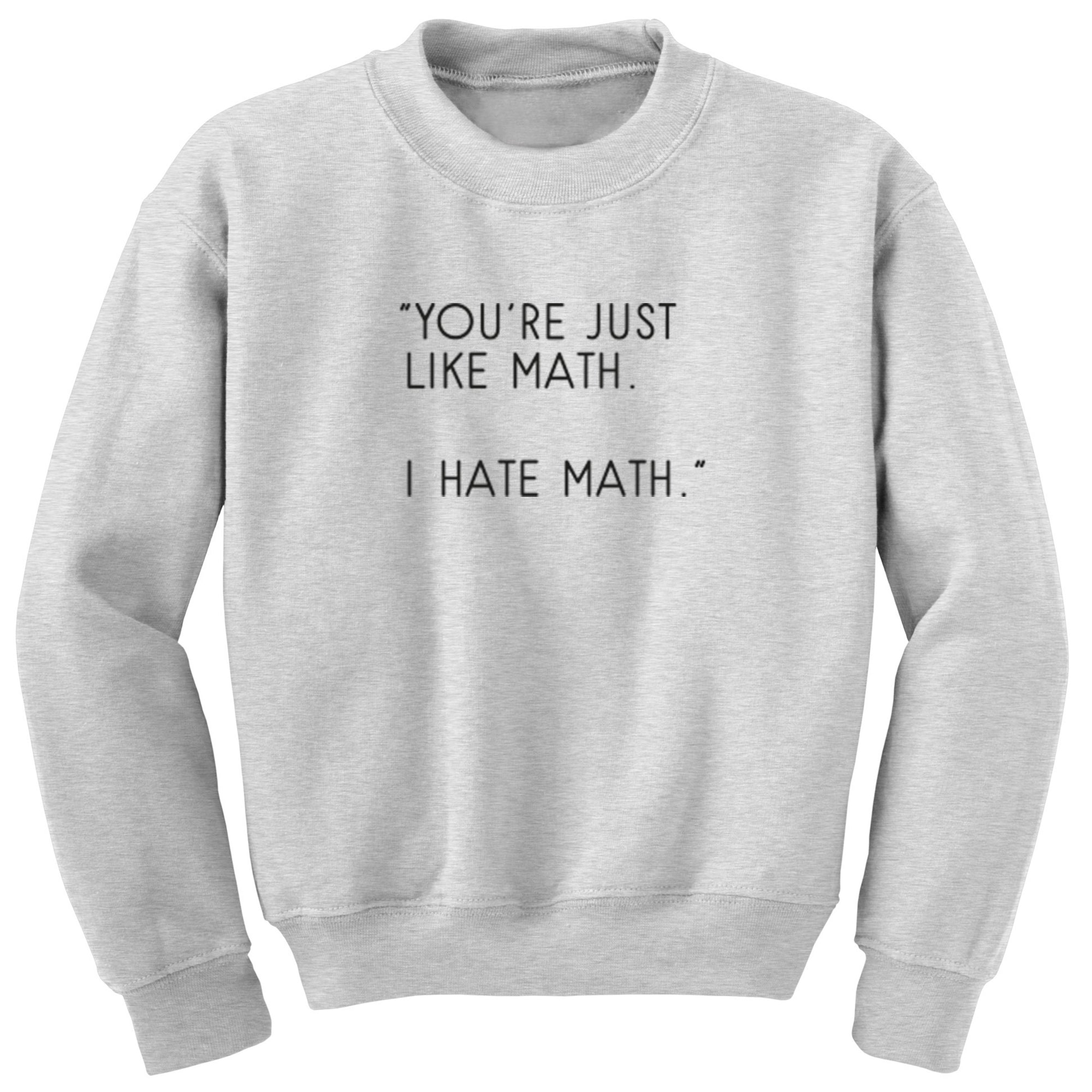"""You're Just Like Math. I Hate Math."" Unisex Jumper S0816 - Illustrated Identity Ltd."