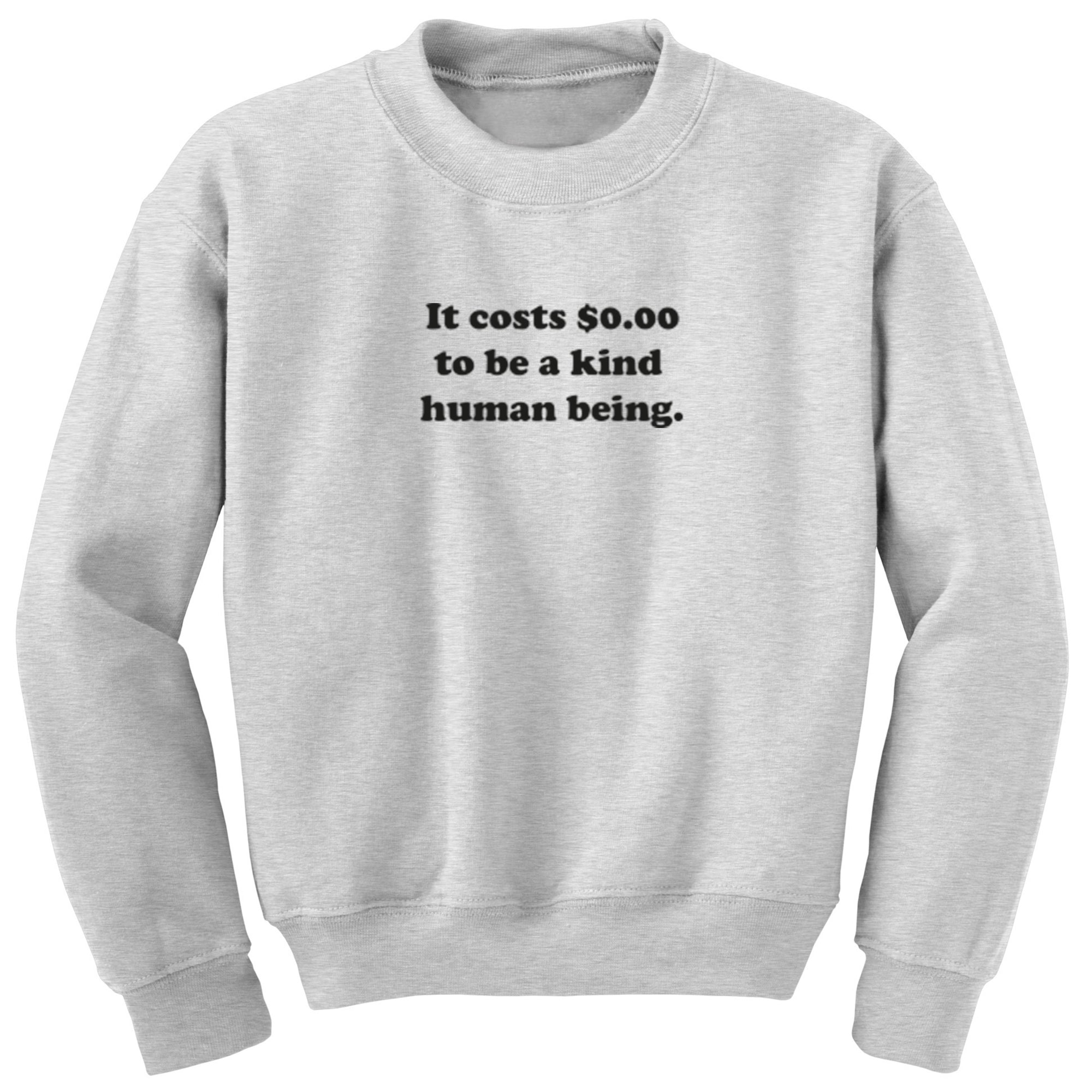 It Costs $0.00 To Be A Kind Human Being Unisex Jumper S0997