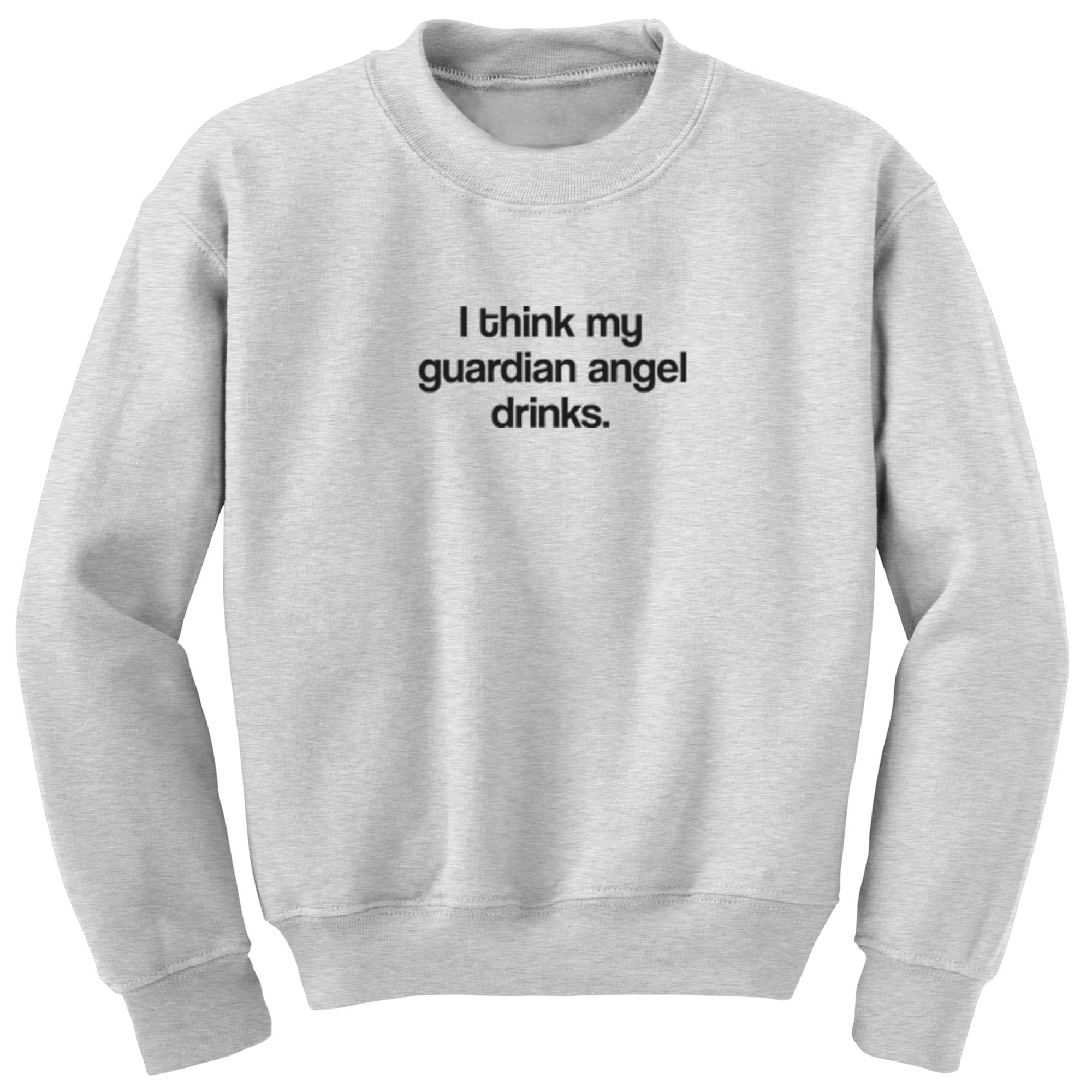I Think My Guardian Angel Drinks Unisex Jumper S1041 - Illustrated Identity Ltd.