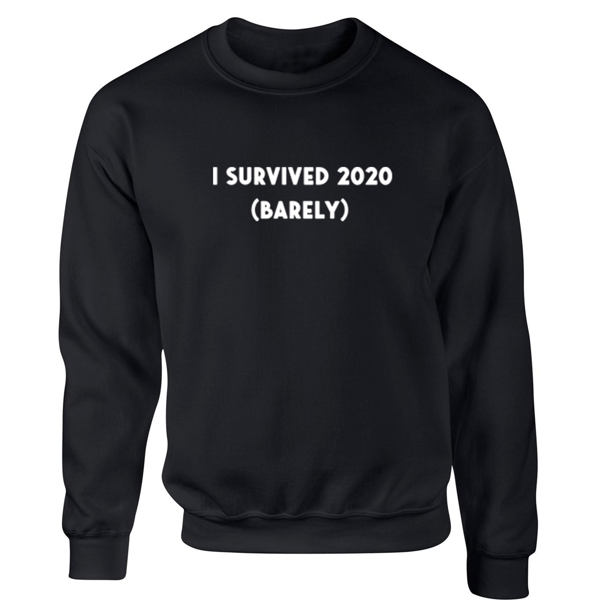 I Survived 2020 (Barely) Unisex Jumper S1139 - Illustrated Identity Ltd.