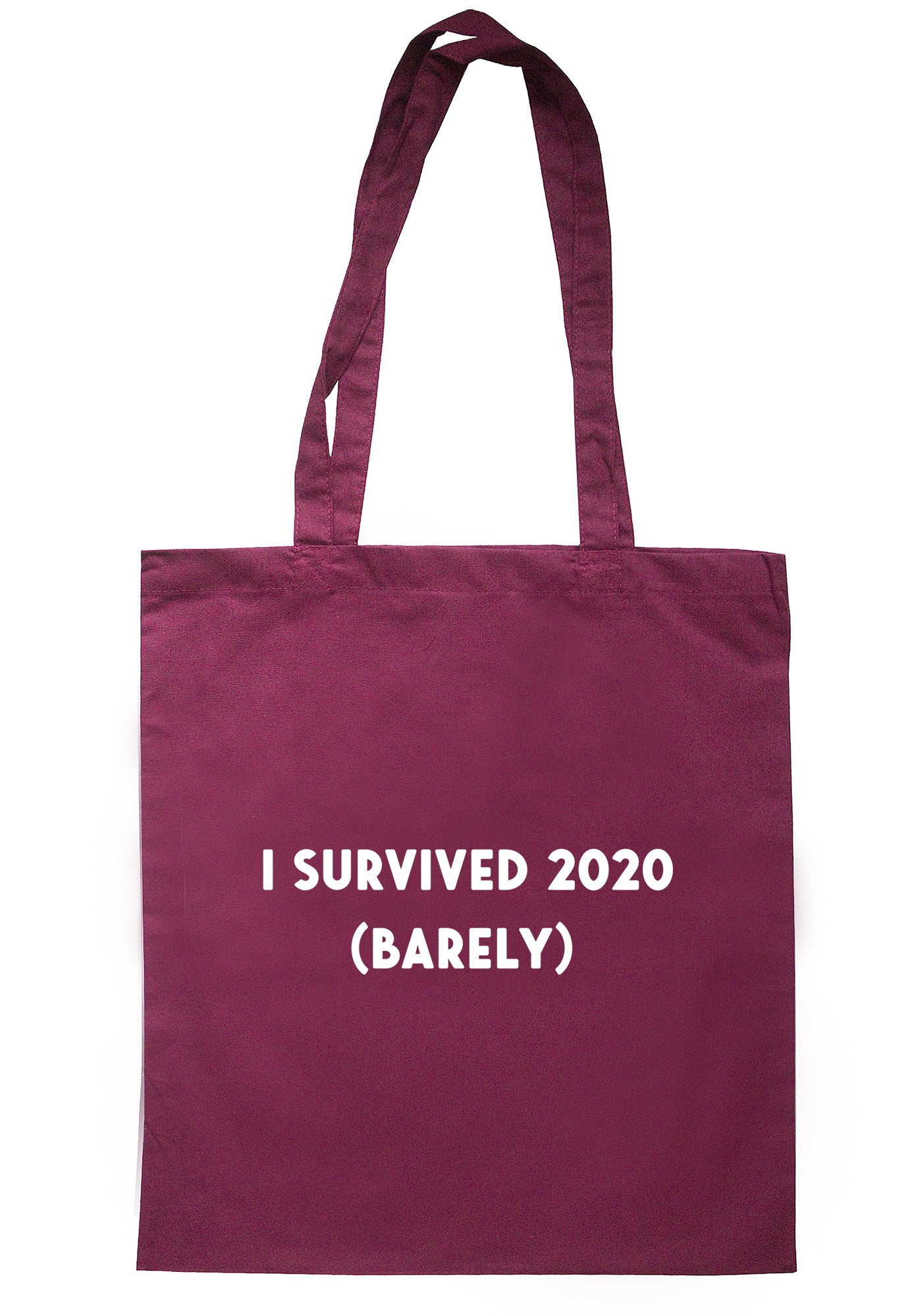 I Survived 2020 (Barely) Tote Bag S1139 - Illustrated Identity Ltd.