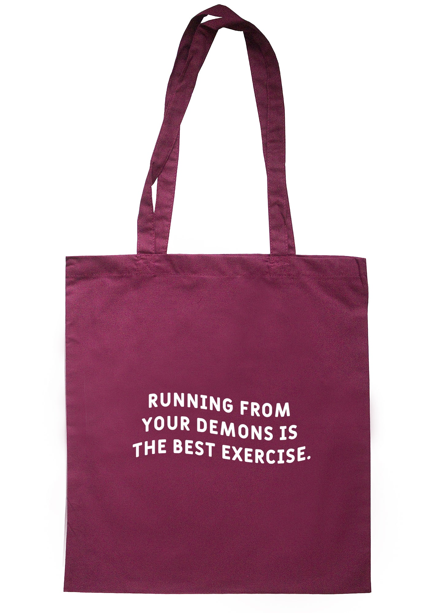 Running From Your Demons Is The Best Exercise Tote Bag S1166 - Illustrated Identity Ltd.