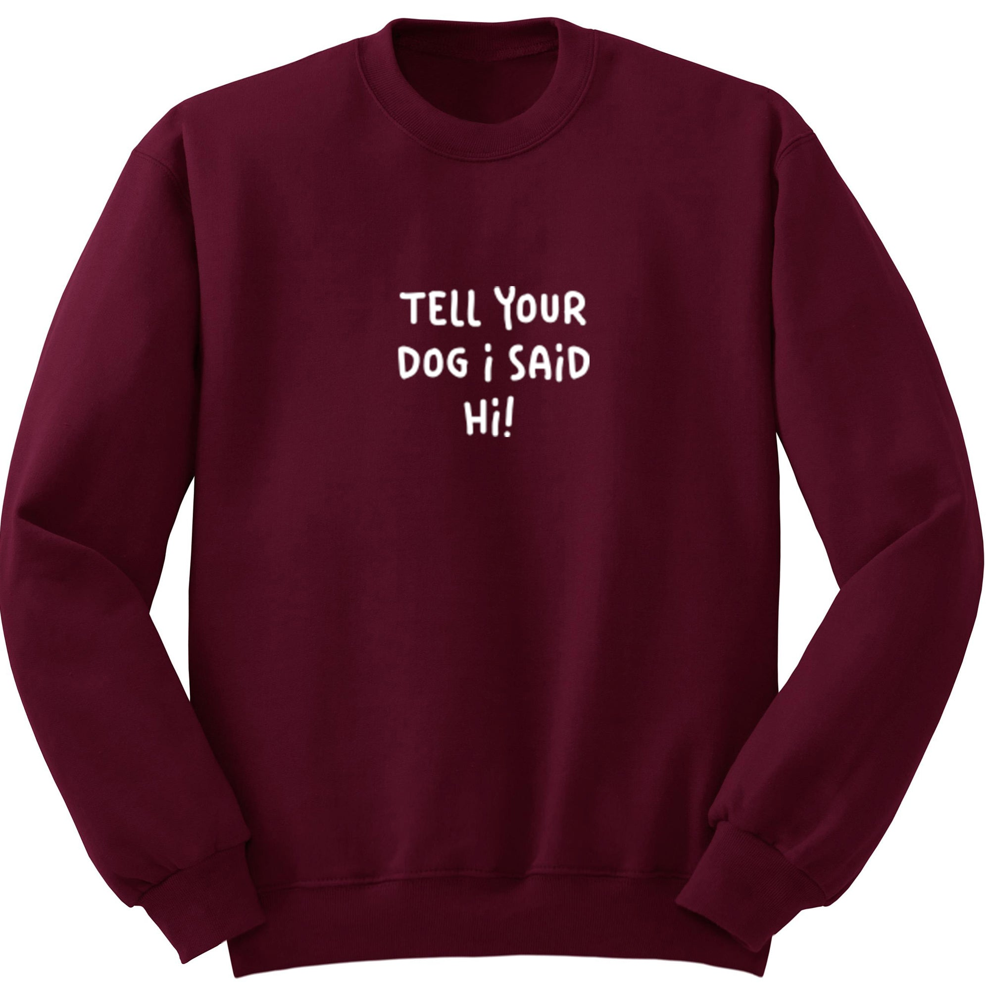 Tell Your Dog I Said Hi! Unisex Jumper S1184 - Illustrated Identity Ltd.