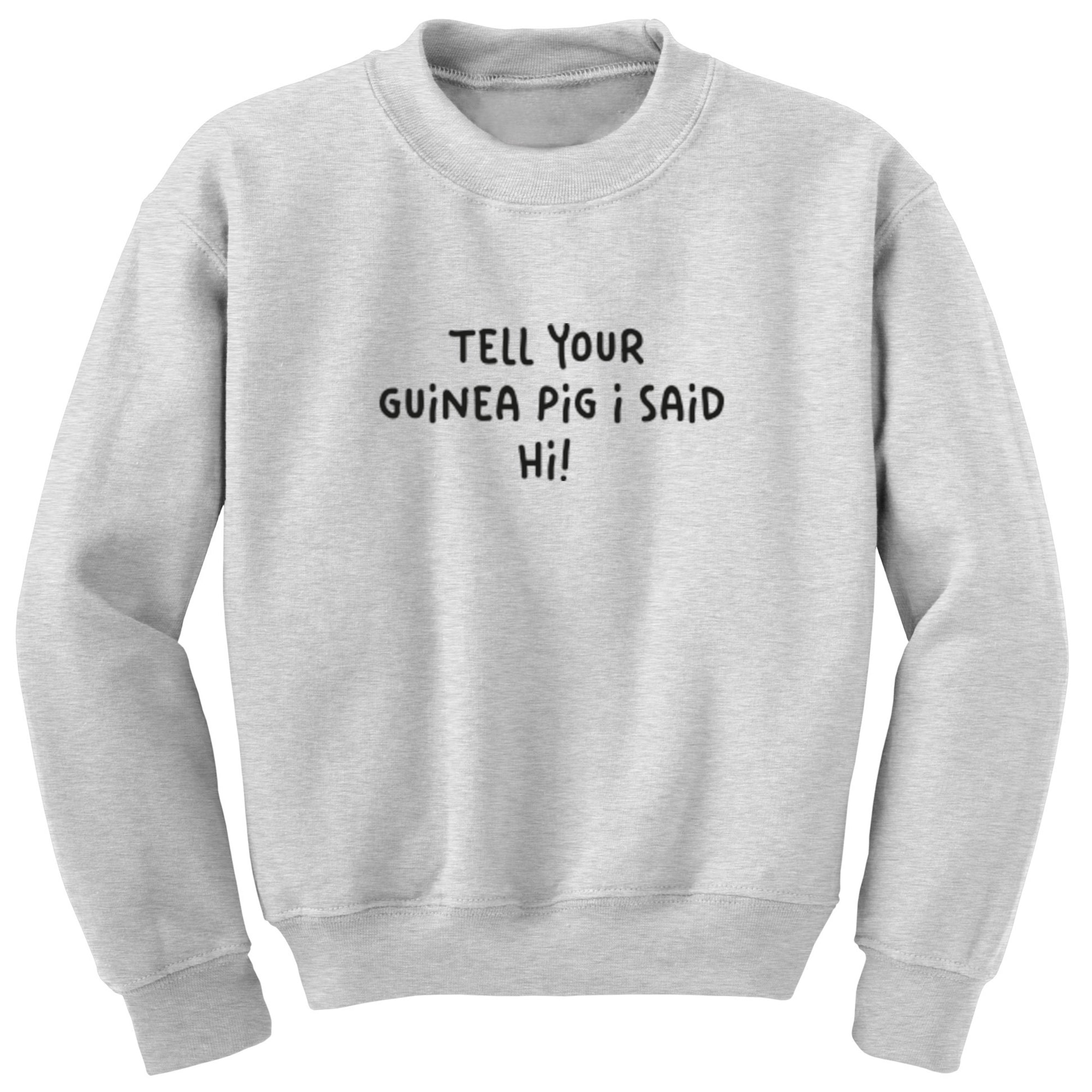 Tell Your Guinea Pig I Said Hi! Unisex Jumper S1188