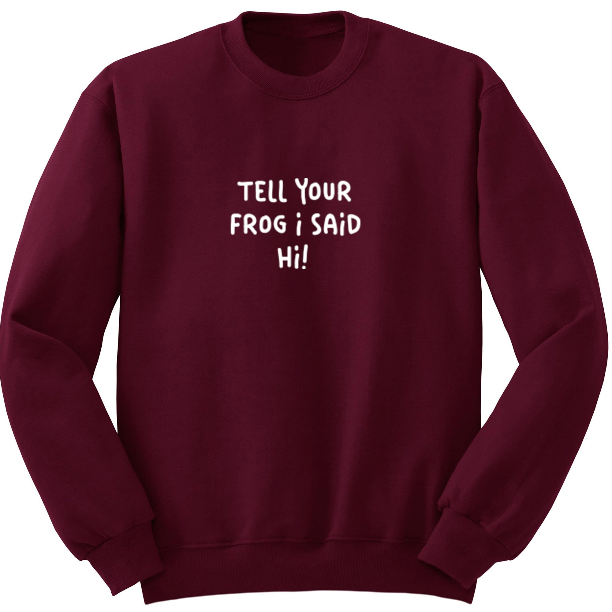 Tell Your Frog I Said Hi! Unisex Jumper S1192