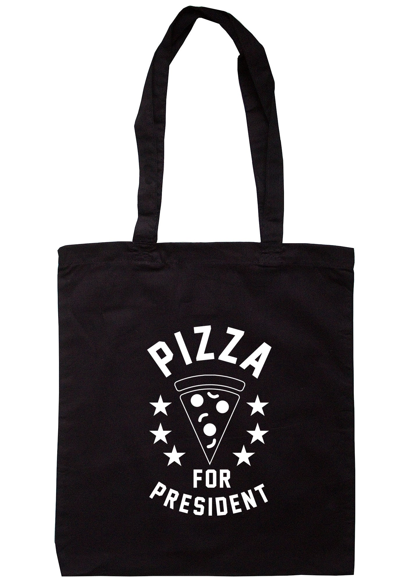 Pizza For President Tote Bag TB0489 - Illustrated Identity Ltd.