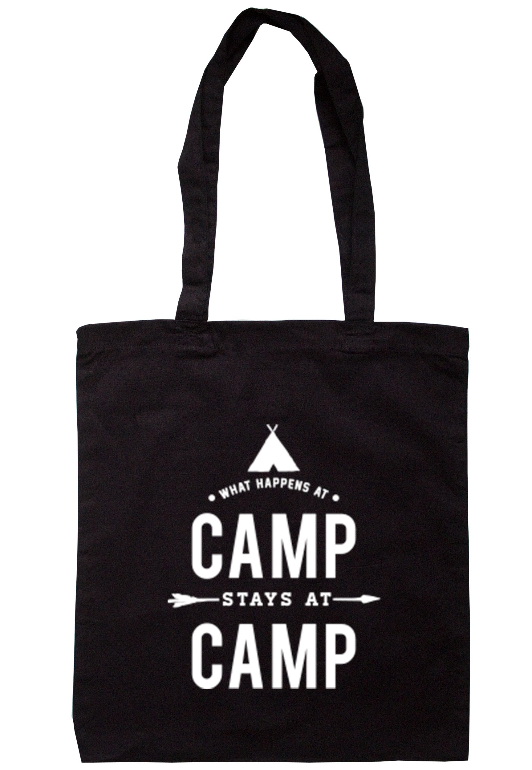 What Happens At Camp Stays At Camp  Tote Bag TB0333 - Illustrated Identity Ltd.