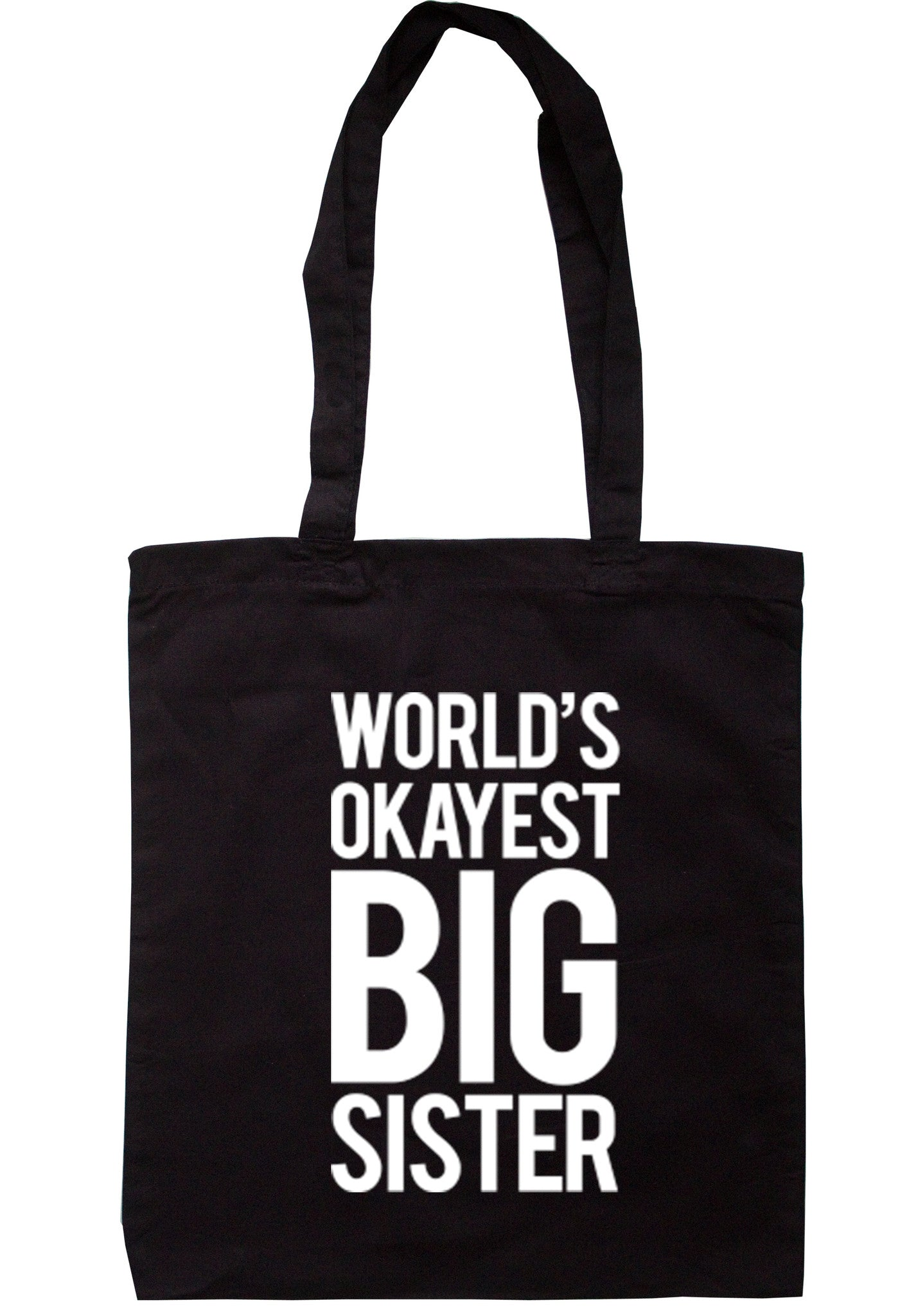 Worlds Okayest Big Sister Tote Bag TB0036 - Illustrated Identity Ltd.