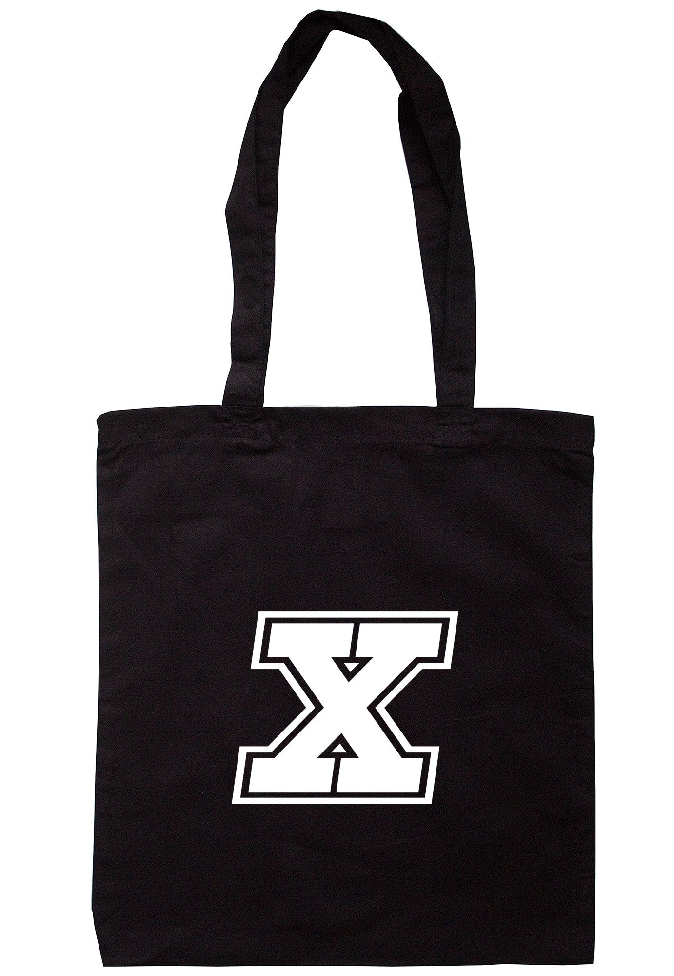 Letter 'X' Initial Tote Bag TB0734 - Illustrated Identity Ltd.