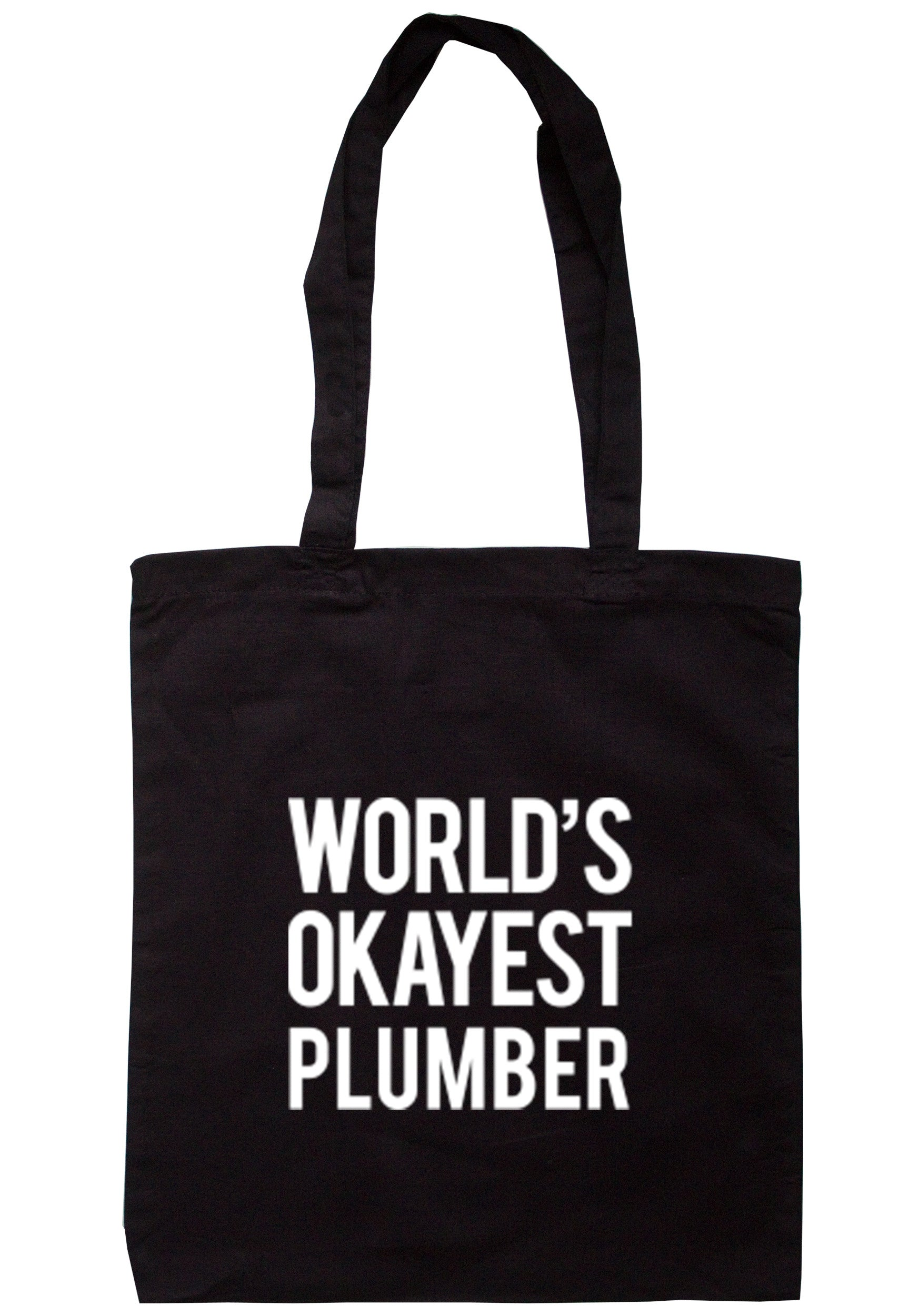 Worlds Okayest Plumber Tote Bag TB0303 - Illustrated Identity Ltd.