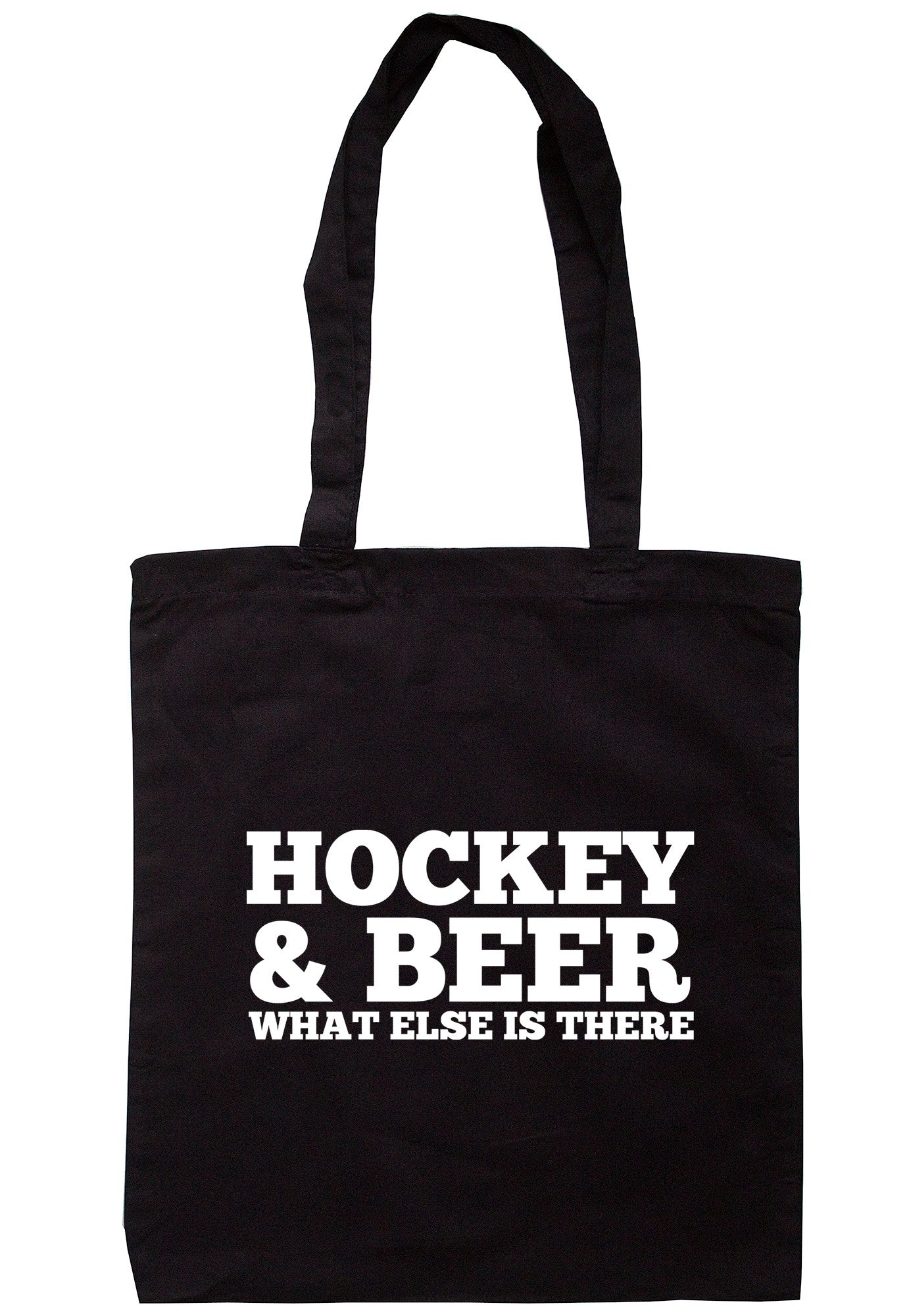 Hockey & Beer What Else Is There Tote Bag TB0470 - Illustrated Identity Ltd.