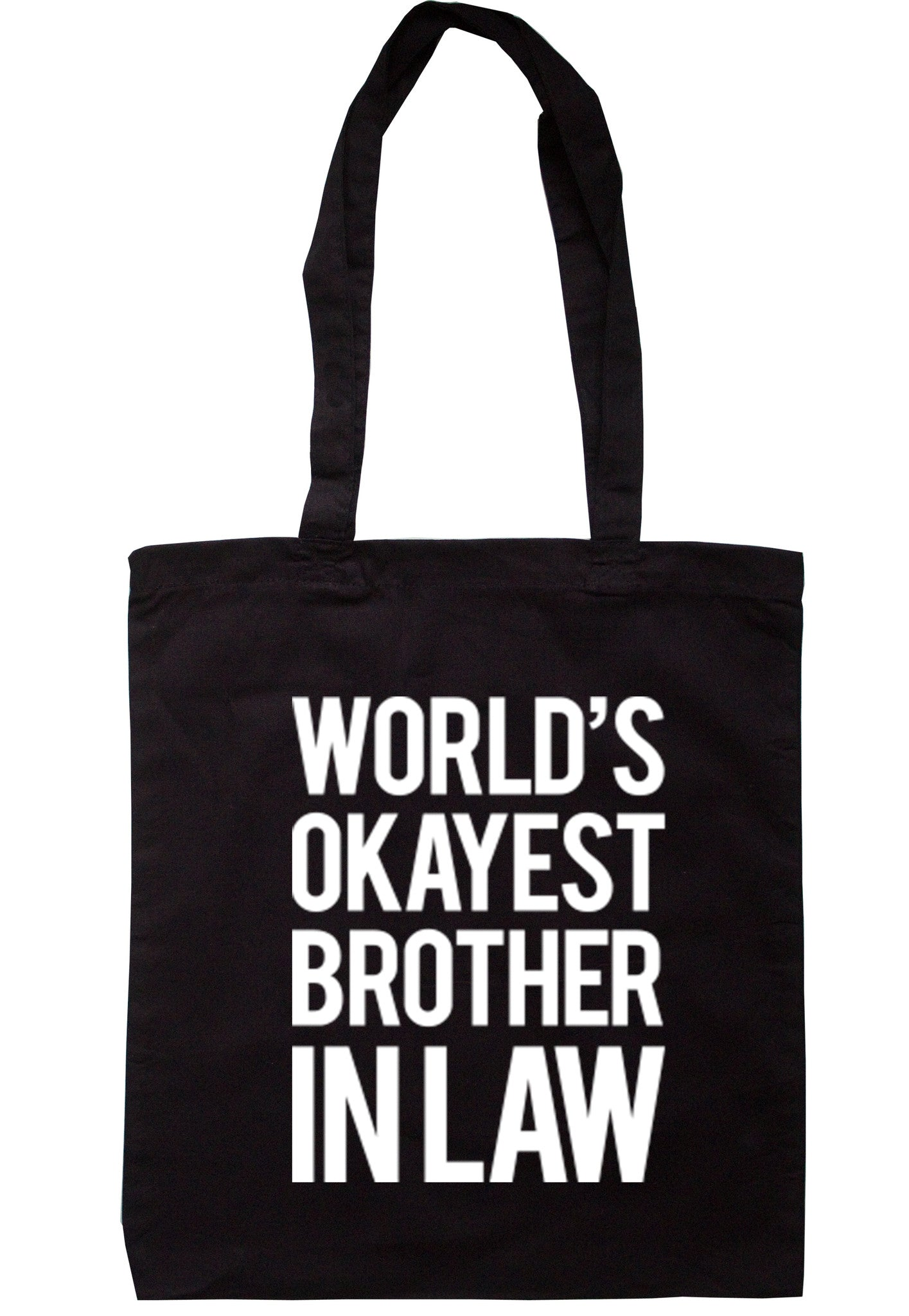 Worlds Okayest Brother In Law Tote Bag TB0033 - Illustrated Identity Ltd.