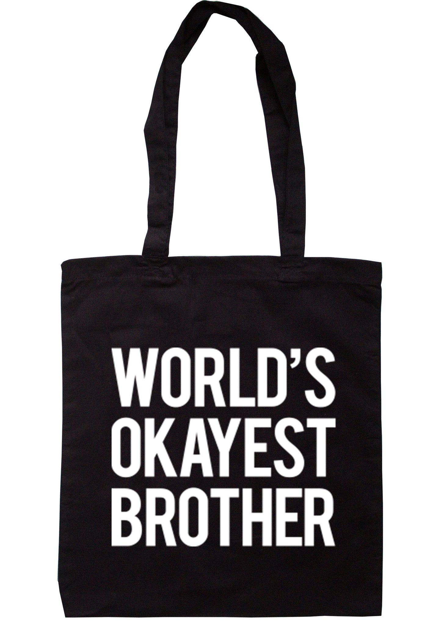 Worlds Okayest Brother Tote Bag TB0043 - Illustrated Identity Ltd.