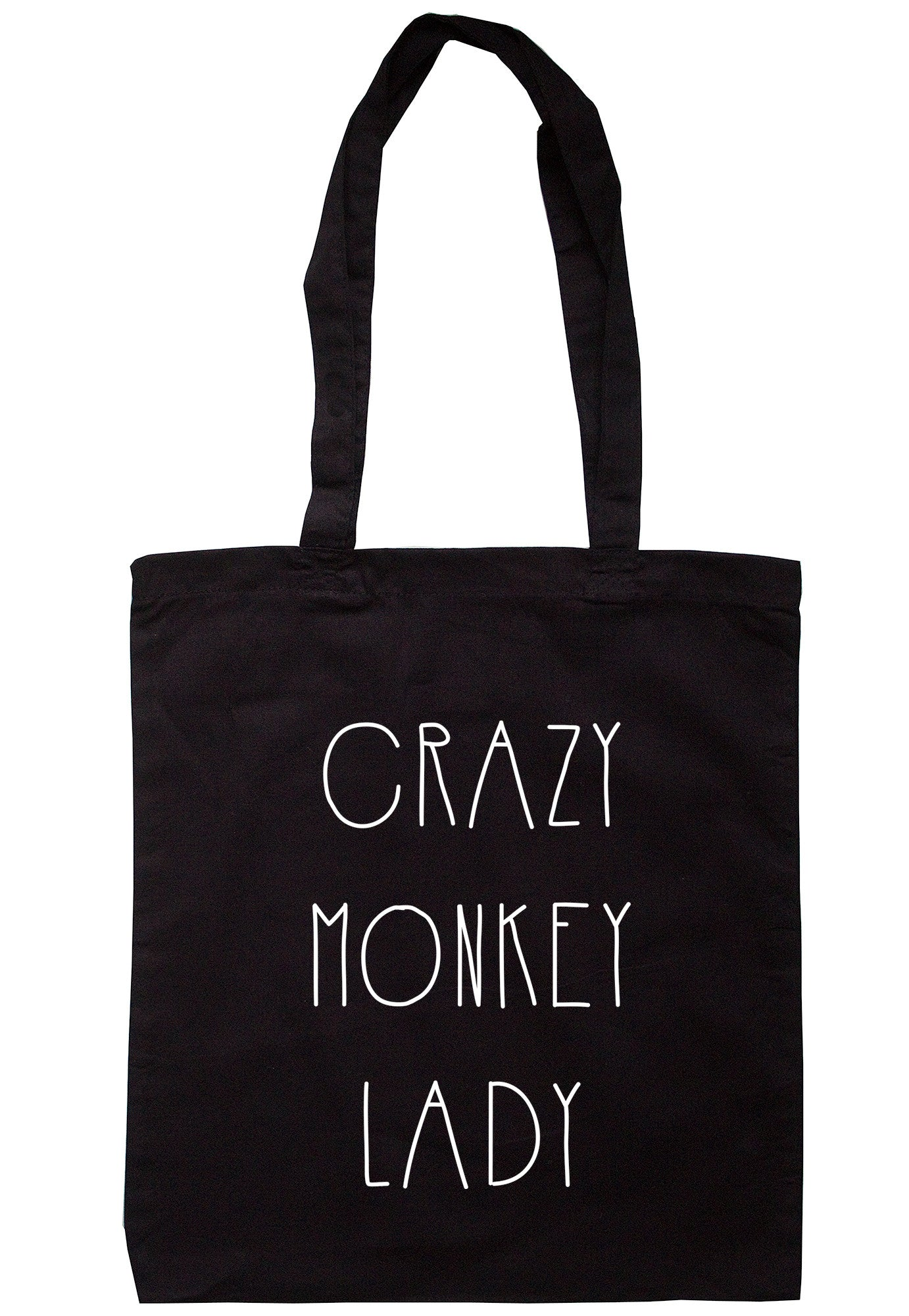 Crazy Monkey Lady Tote Bag TB0384 - Illustrated Identity Ltd.